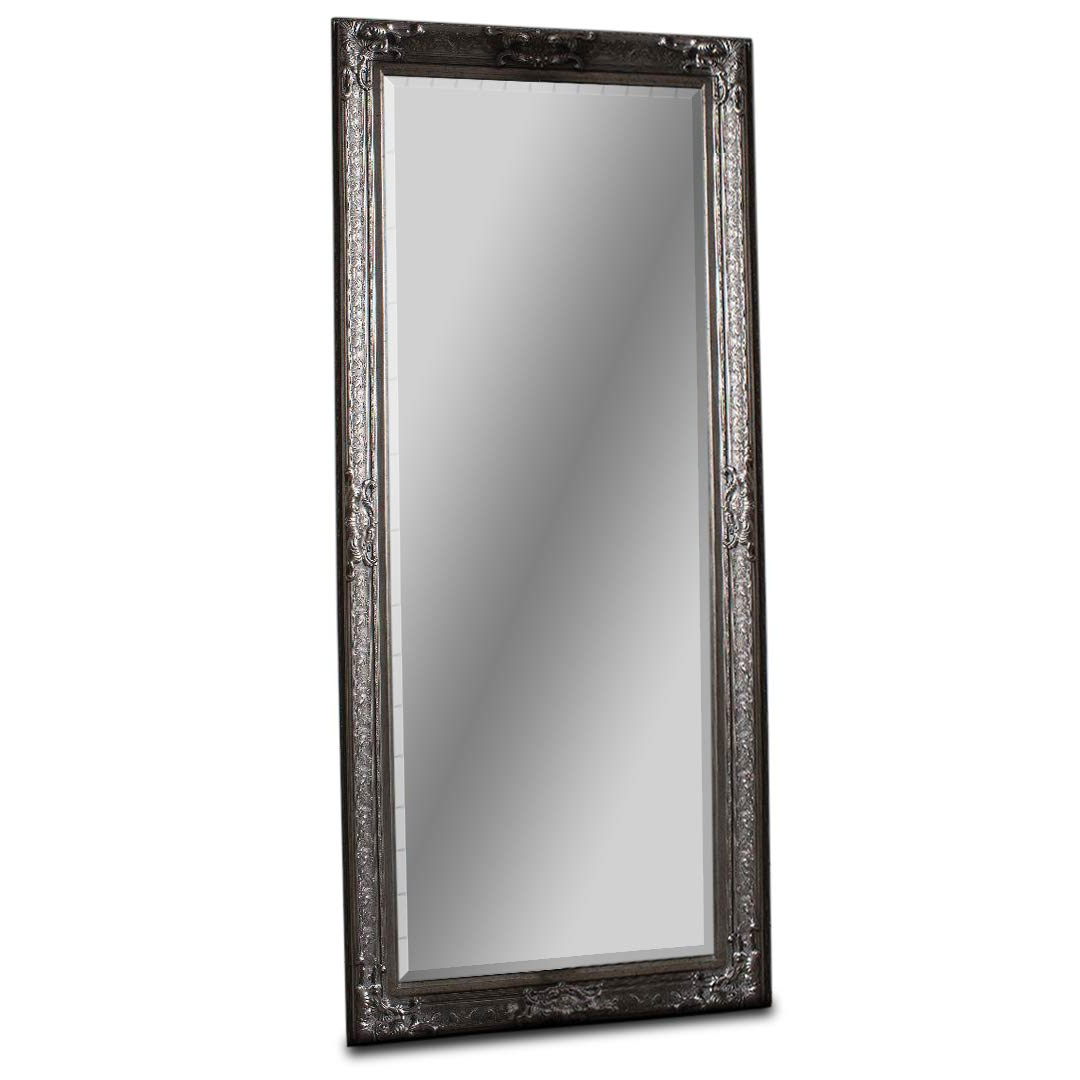 """Barcelona Trading Pembridge Large Antique Silver Full Length Leaner Wall  Floor Mirror 75"""" X 32"""" In Favorite Antique Full Length Wall Mirrors (View 10 of 20)"""