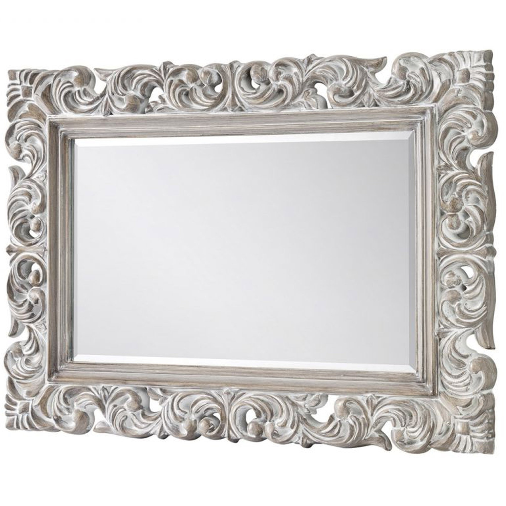 Baroque Distressed Wall Mirror Regarding Latest Baroque Wall Mirrors (View 1 of 20)