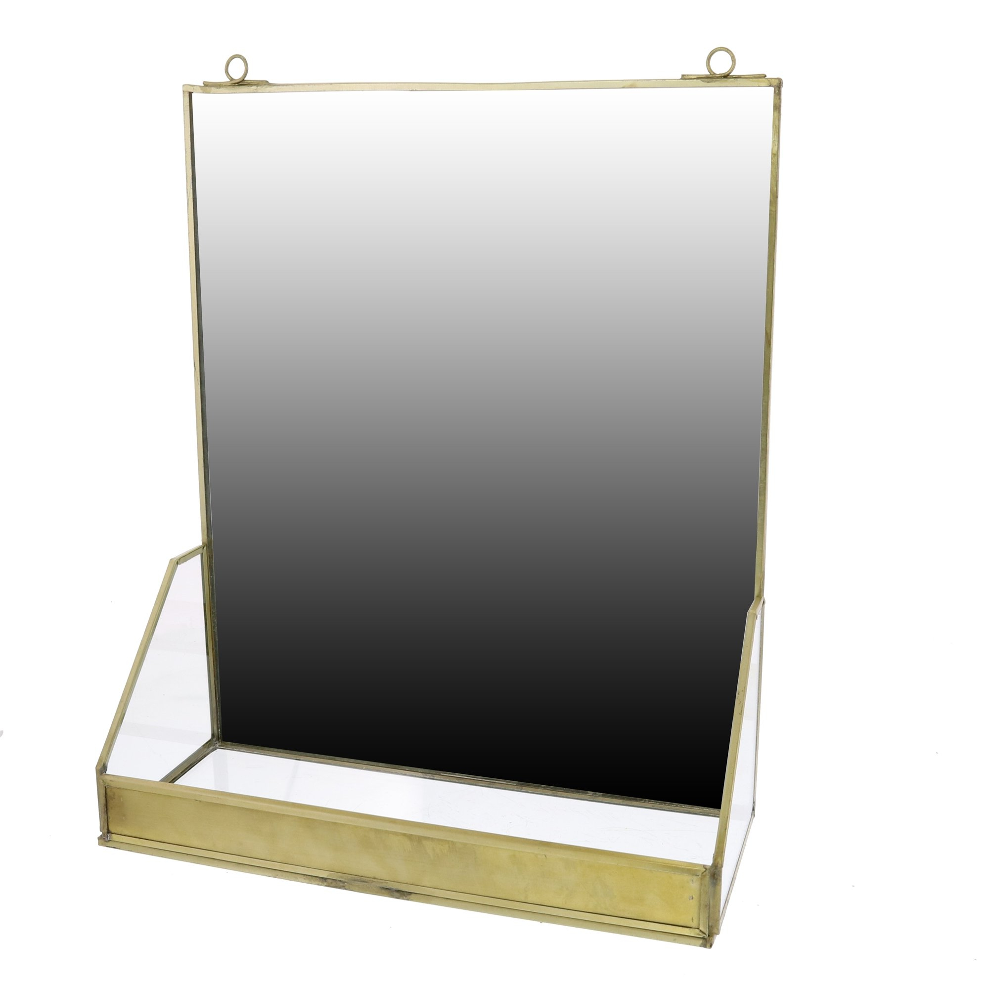 Bartolo Accent Mirrors Inside Most Up To Date Thrailkill Accent Mirror With Shelf Brass (View 17 of 20)