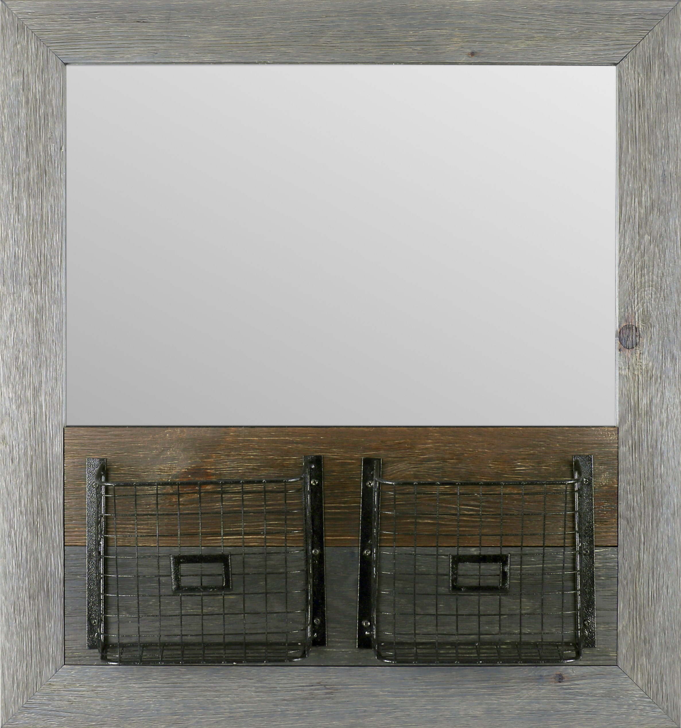 Basket Wood Modern And Contemporary Accent Mirror Regarding Best And Newest Abdul Accent Mirrors (View 6 of 20)
