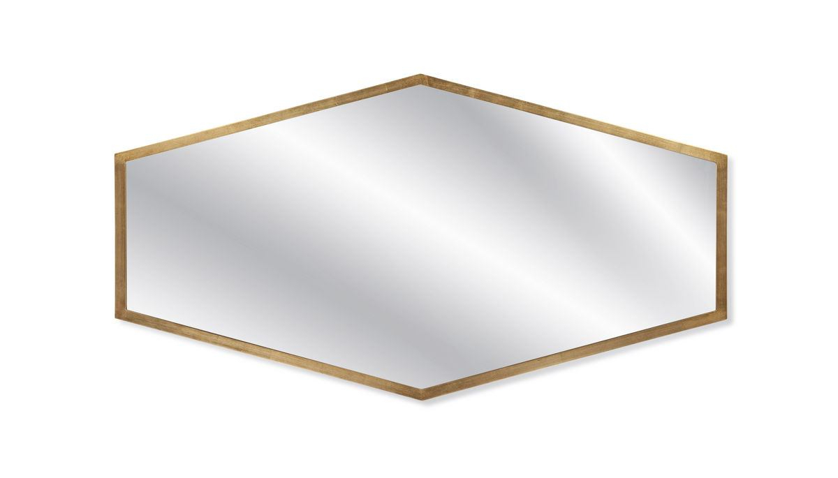 Bassett Mirror Company Hollywood Glam Haines Wall Mirror In Gold Leaf M3927 Intended For Recent Bassett Wall Mirrors (View 10 of 20)