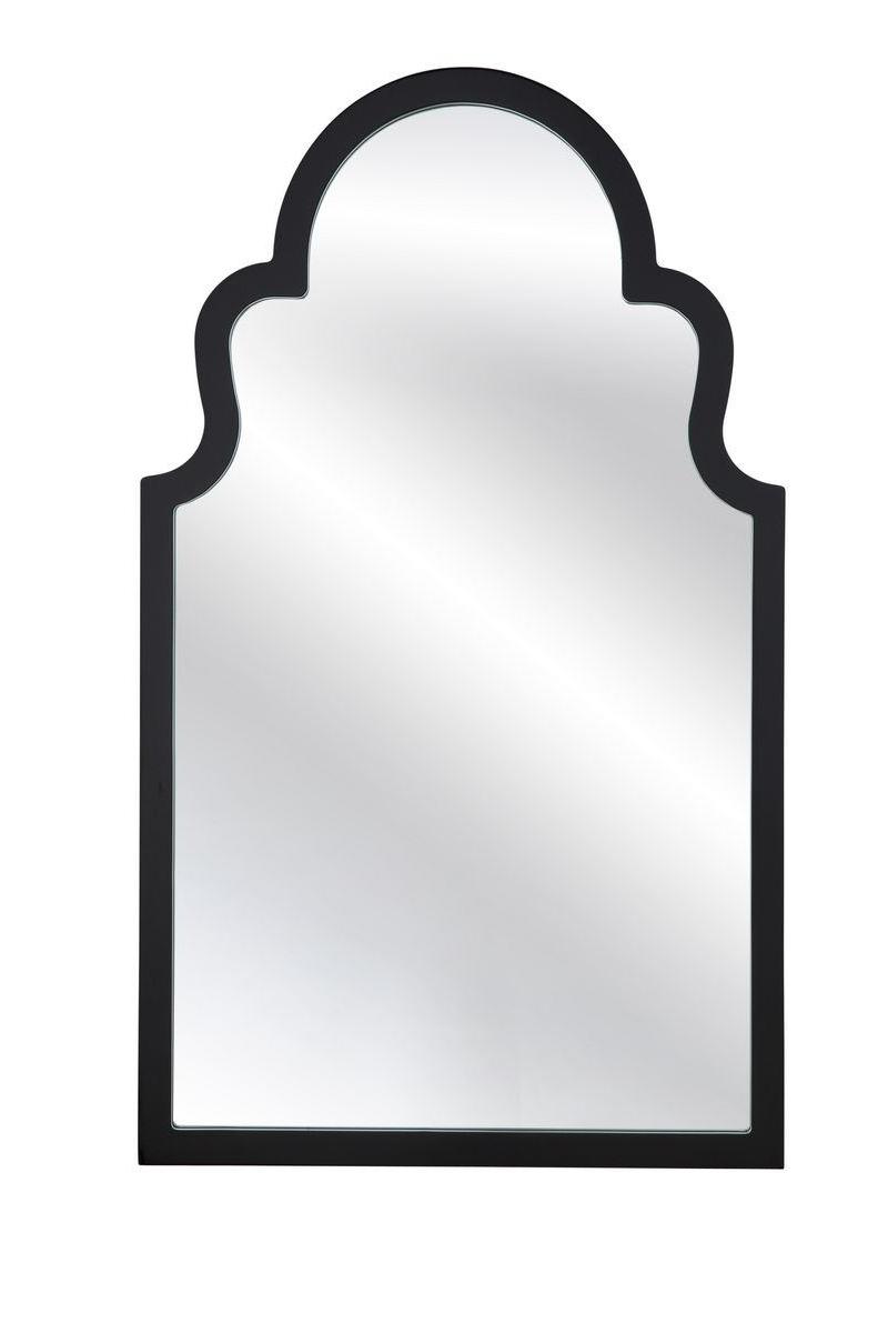Bassett Mirror Company Thoroughly Modern Elberta Wall Mirror In Black M3665 Pertaining To Latest Modern Black Wall Mirrors (View 15 of 20)