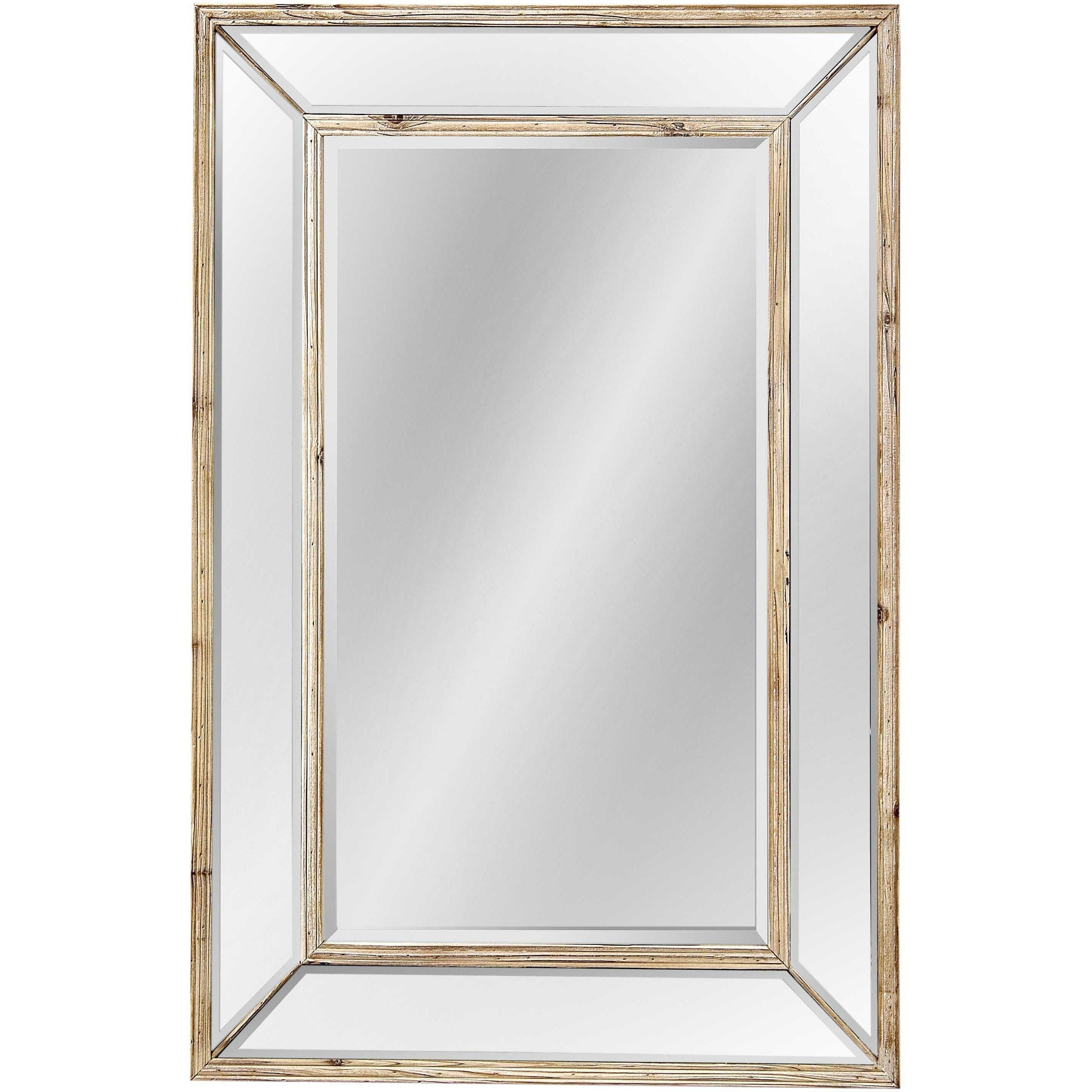 Bassett Pompano Wall Mirror With Brown Pine Frame Pertaining To Most Up To Date Bassett Wall Mirrors (View 9 of 20)