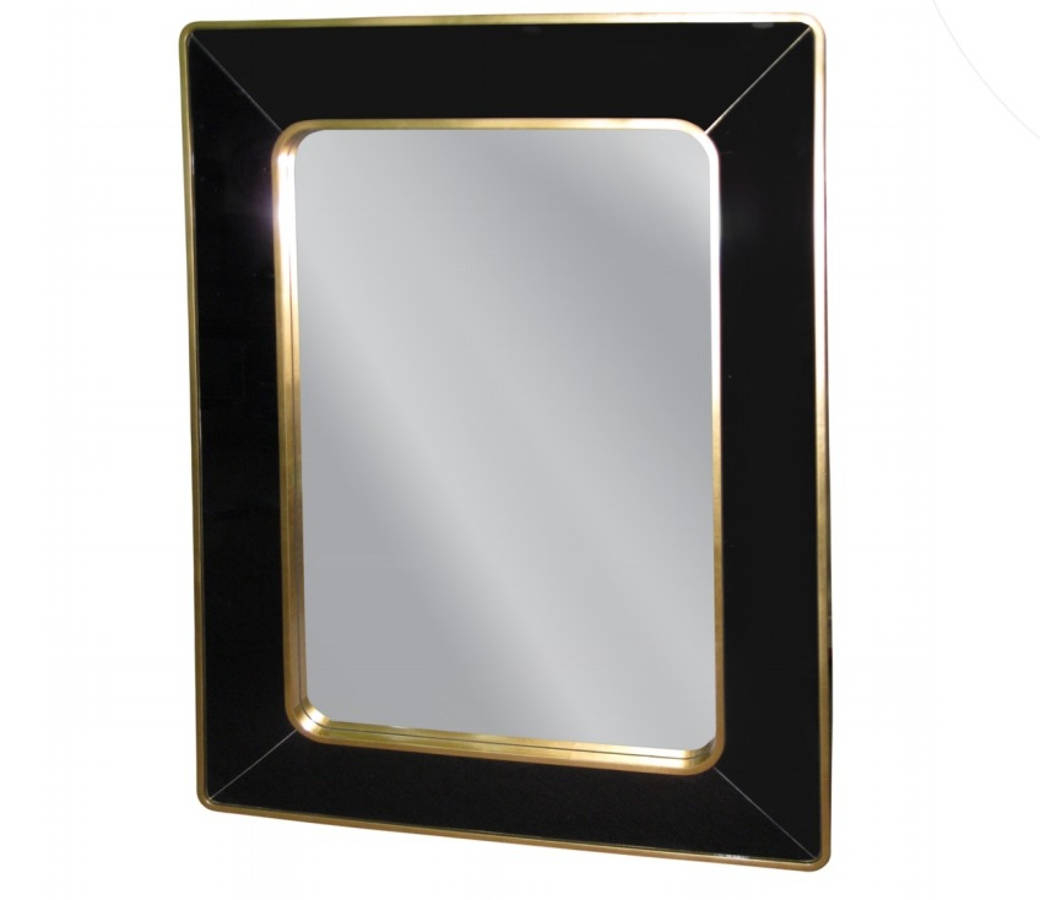 Bassett Wall Mirrors With Fashionable Bassett Mirror Utica Gold Black Wall Mirror (View 1 of 20)