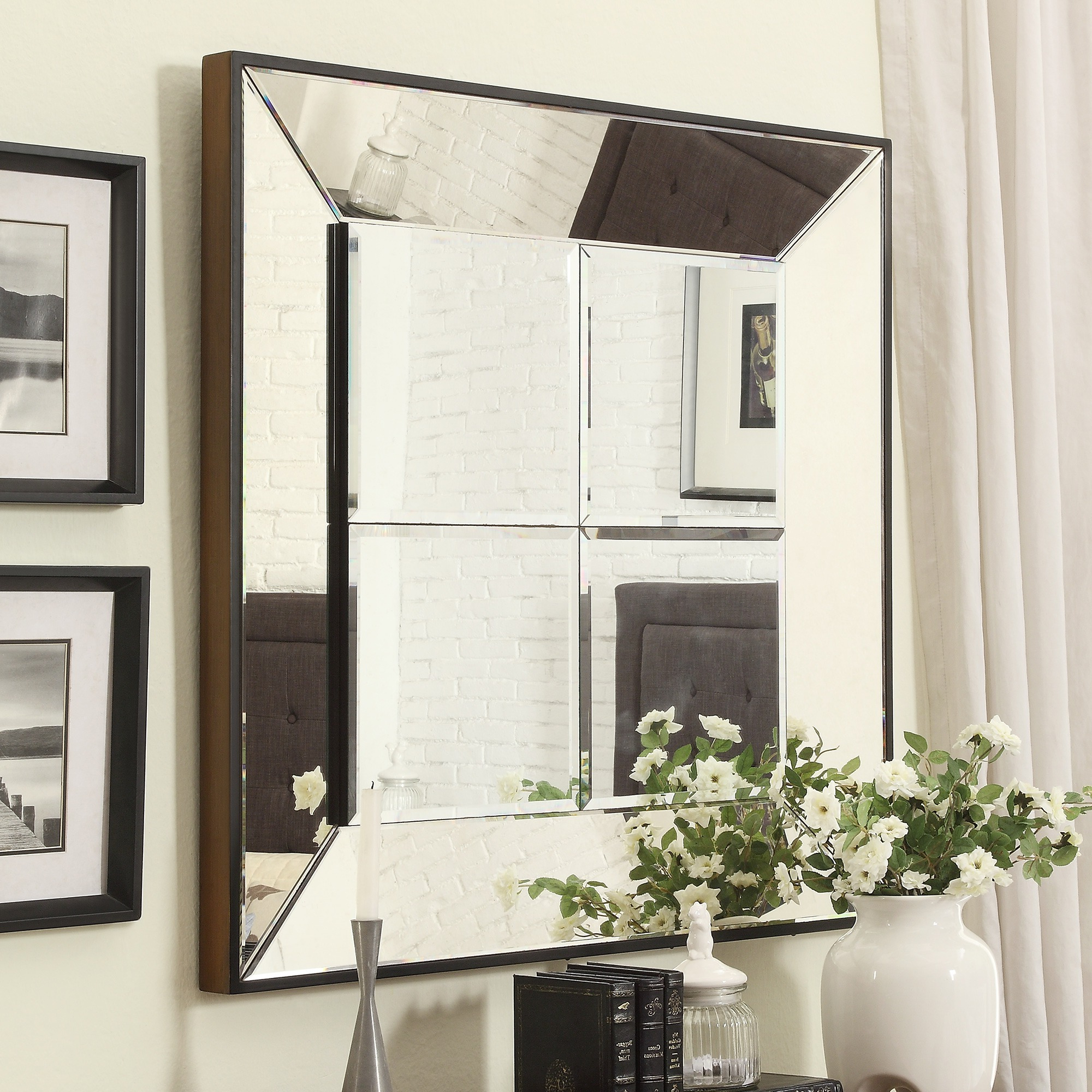Bathroom: Enchanting Pottery Barn Mirrors With Various Throughout Fashionable Large Square Wall Mirrors (View 5 of 20)