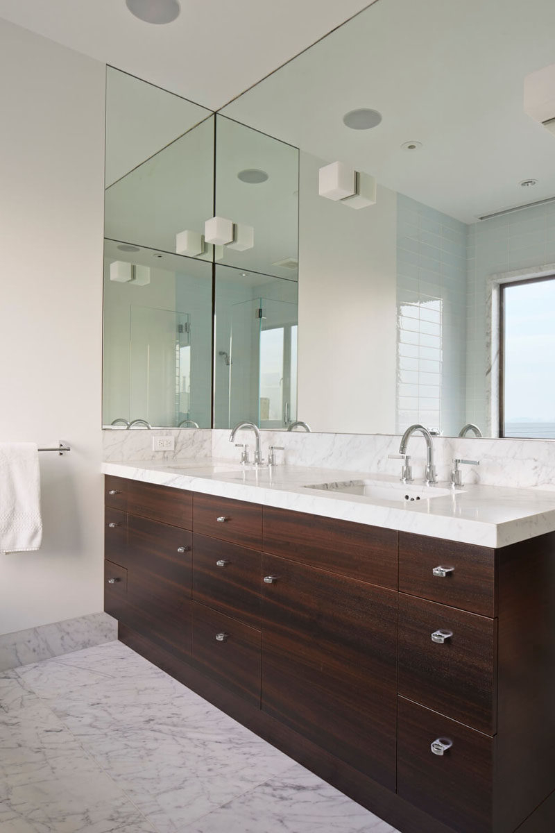 Bathroom Full Wall Mirrors For Favorite Bathroom Mirror Ideas – Fill The Whole Wall (View 4 of 20)