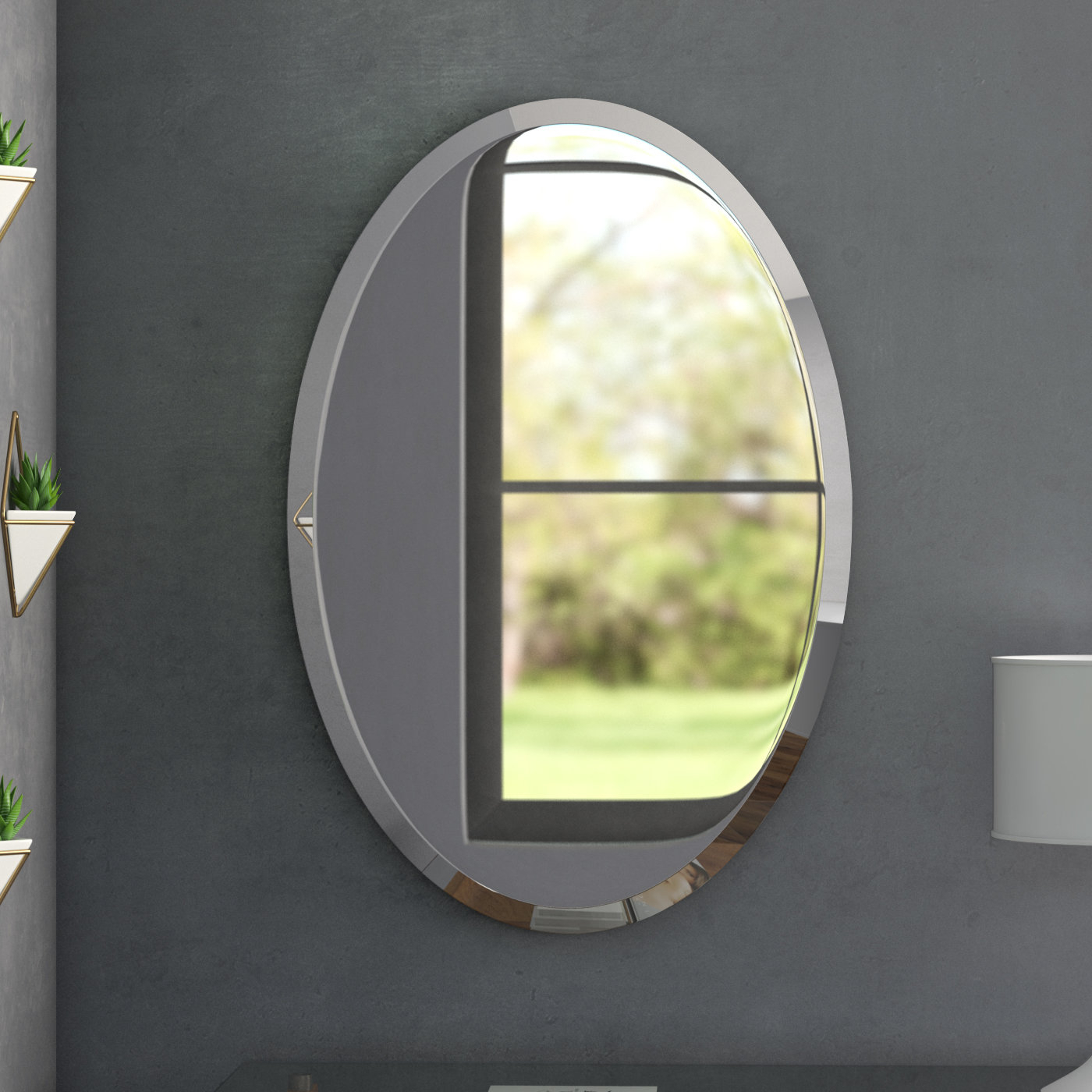 Bathroom/vanity Mirror Throughout Trendy Gaunts Earthcott Wall Mirrors (View 15 of 20)
