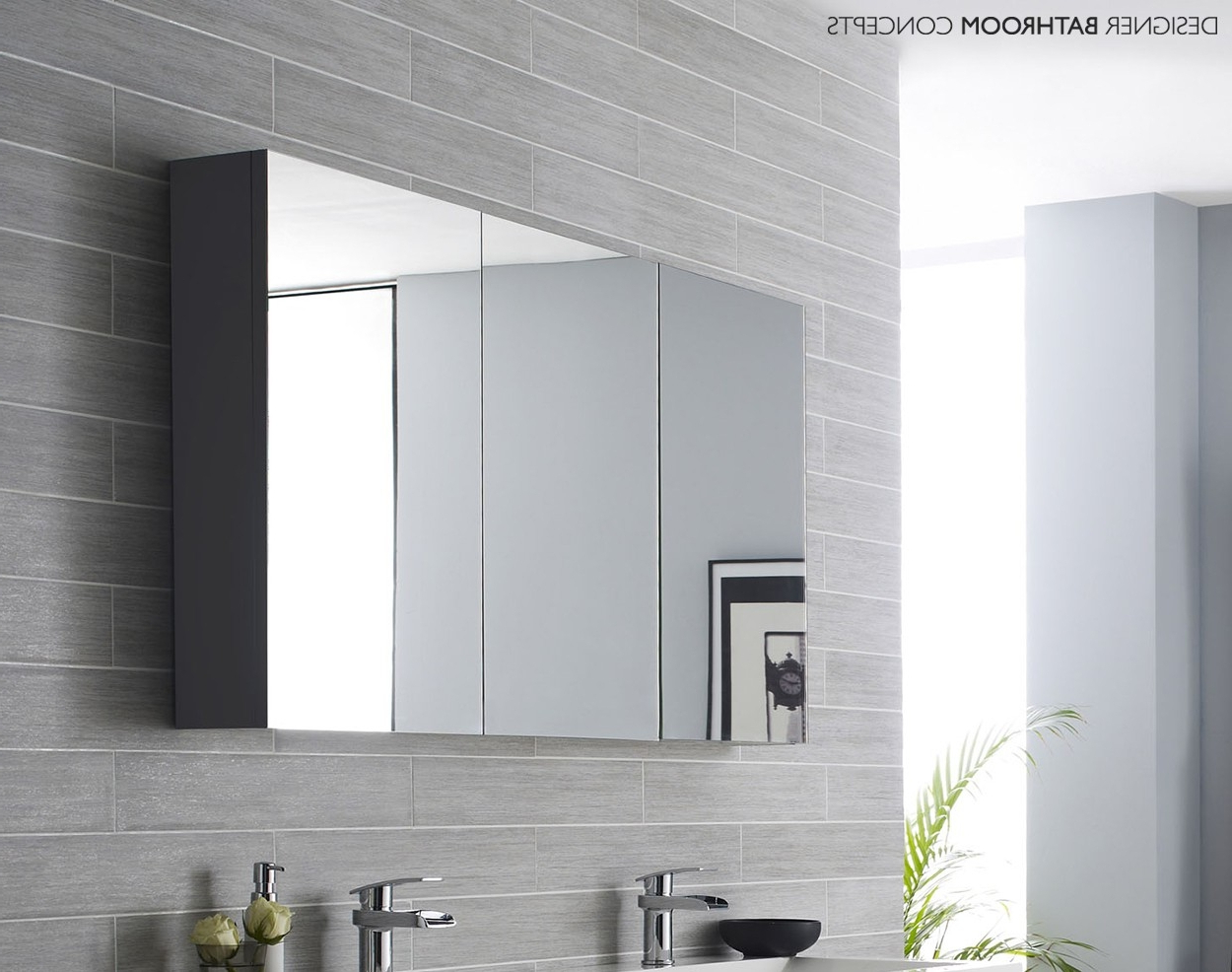 Bathroom Wall Mirror Cabinets Within Popular Top 30 Beautiful Bathroom Mirror Cabinet With Light Modern Vanity (View 6 of 20)