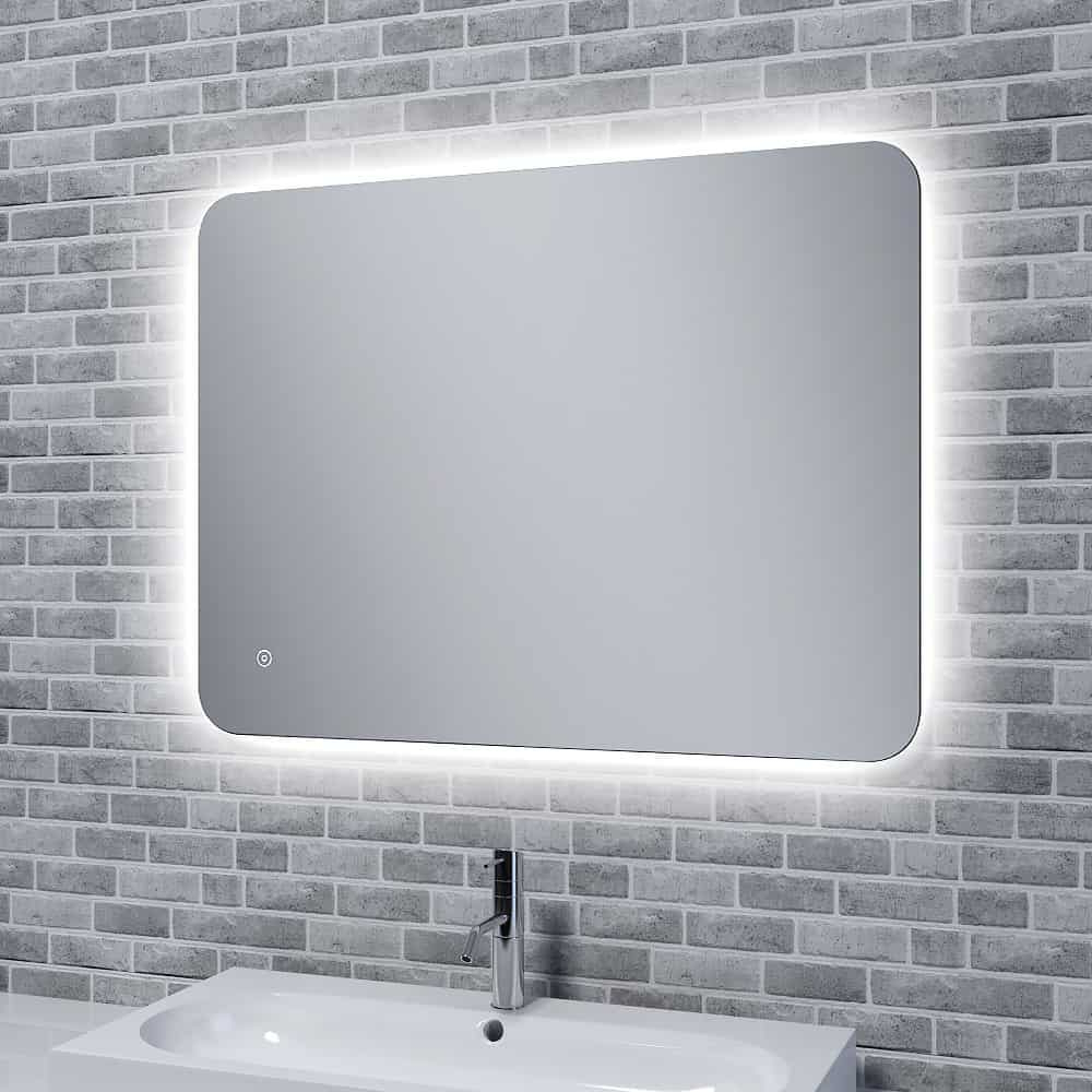 Bathroom Wall Mirrors In Preferred Reflections Rona Slim, Illuminated Led Mirror With Mood Light With Demister (View 3 of 20)