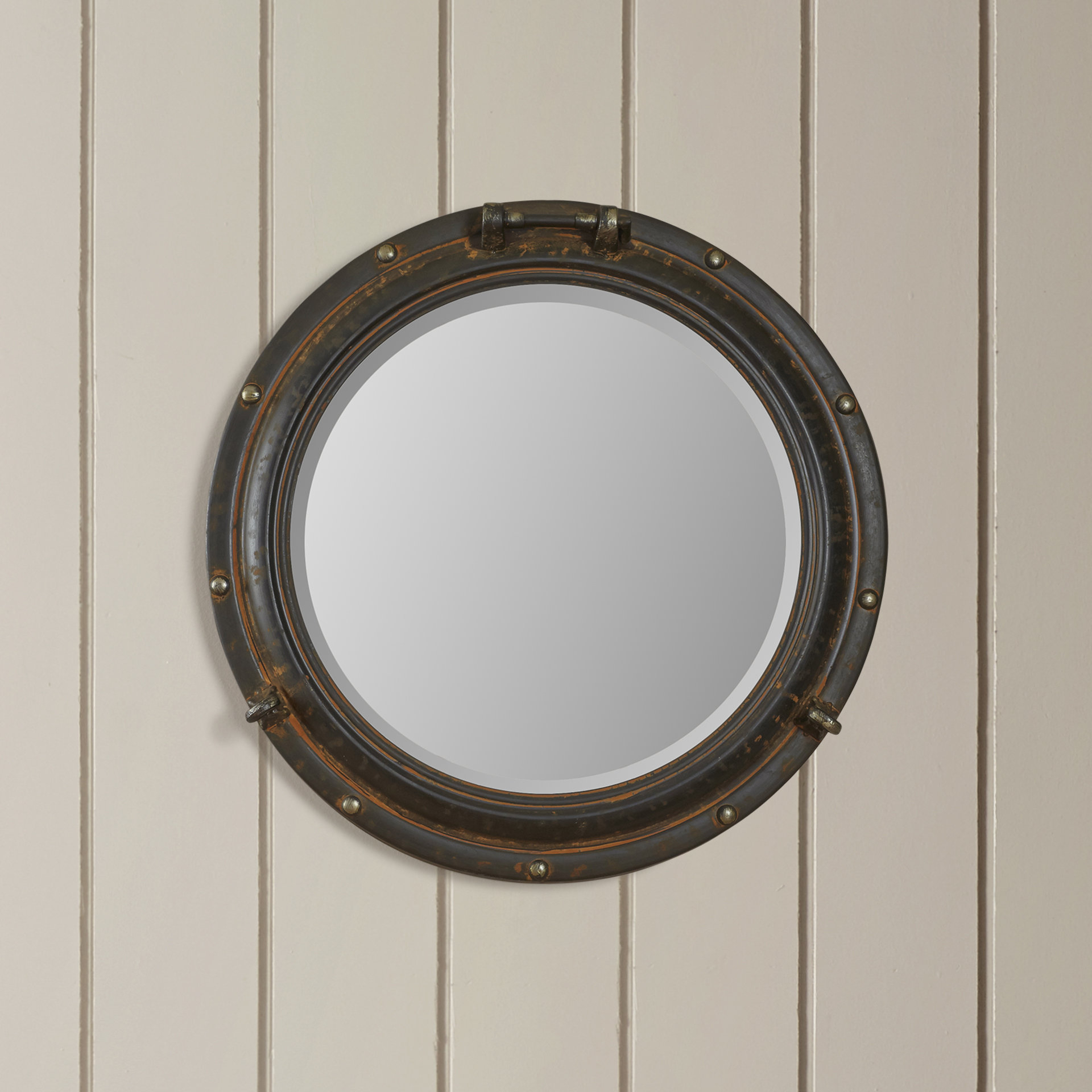 Beachcrest Home Alie Traditional Beveled Distressed Accent Mirror Inside Widely Used Alie Traditional Beveled Distressed Accent Mirrors (View 7 of 20)