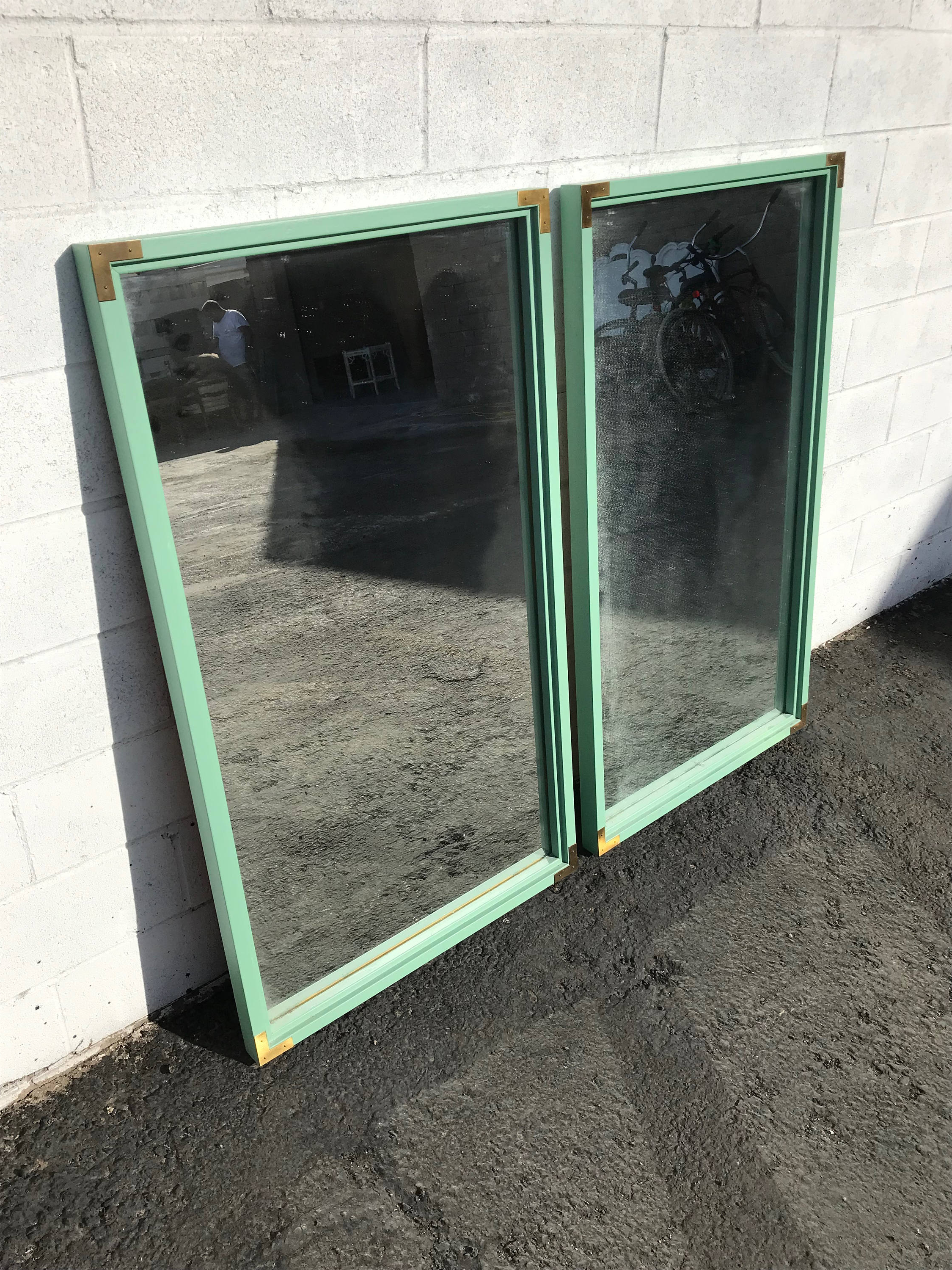 Beachy Wall Mirrors In Most Recently Released 2 Wall Mirror Campaign Brass Gold Vintage Vanity Bohemian Chic (View 11 of 20)