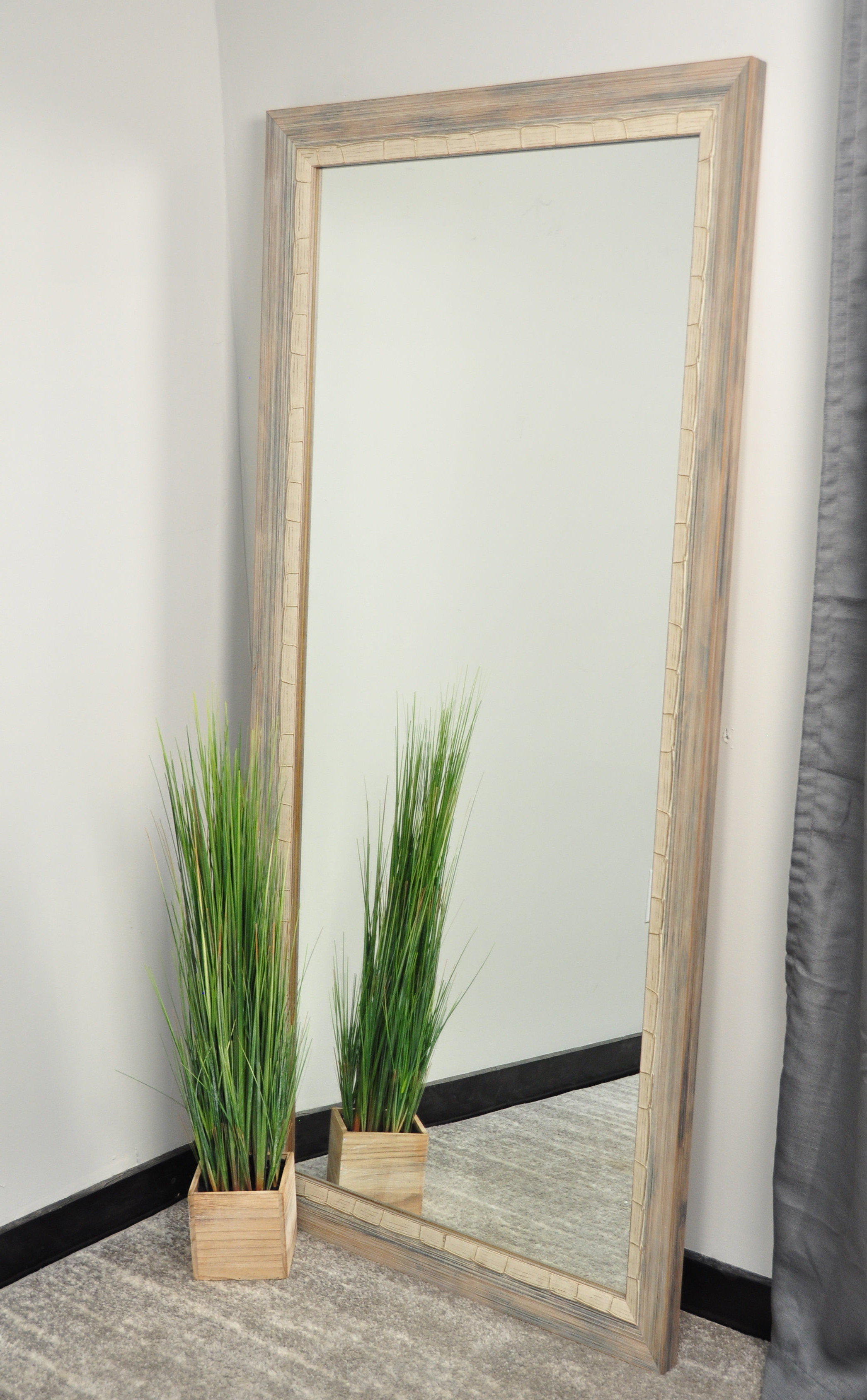 Beachy Wall Mirrors Throughout Newest Coastal Weathered Gray Mirror (View 5 of 20)