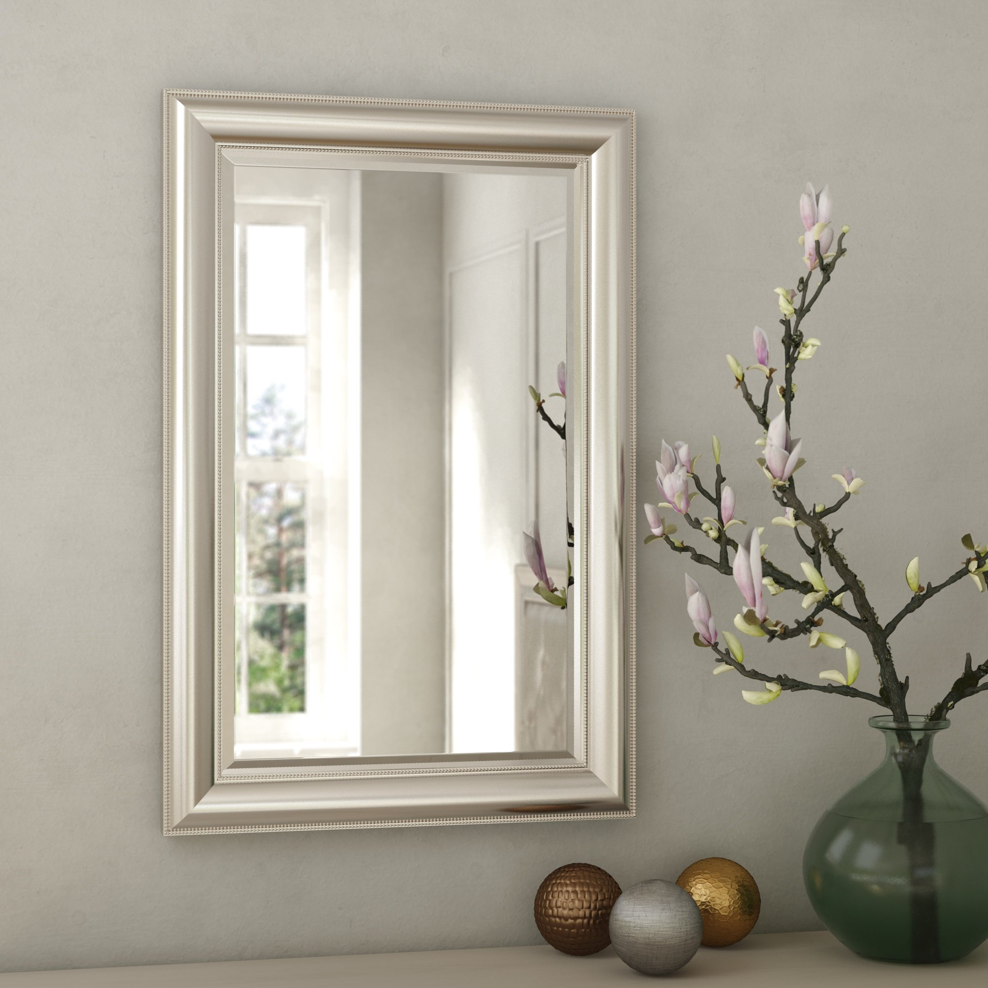 Beaded Accent Mirror With Popular Lake Park Beveled Beaded Accent Wall Mirrors (View 10 of 20)