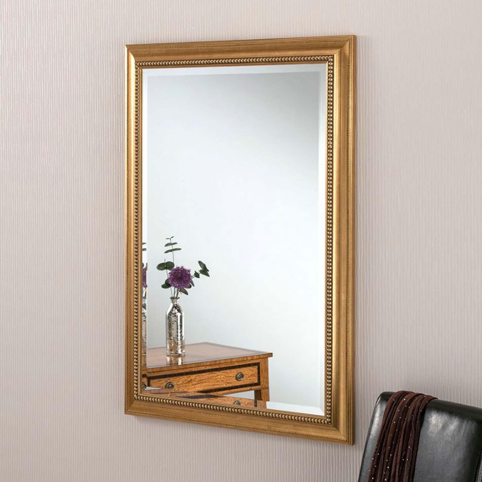 Beaded Wall Mirrors Regarding 2020 Ornate Gold Beaded Rectangular Wall Mirror (View 13 of 20)