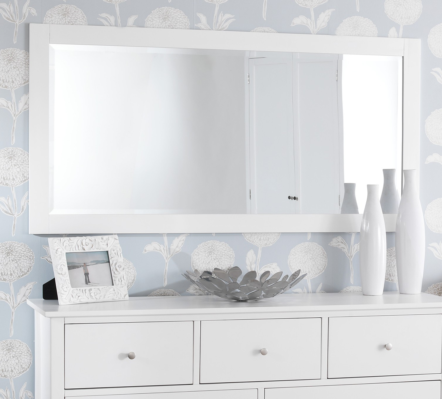 Featured Photo of Long White Wall Mirrors