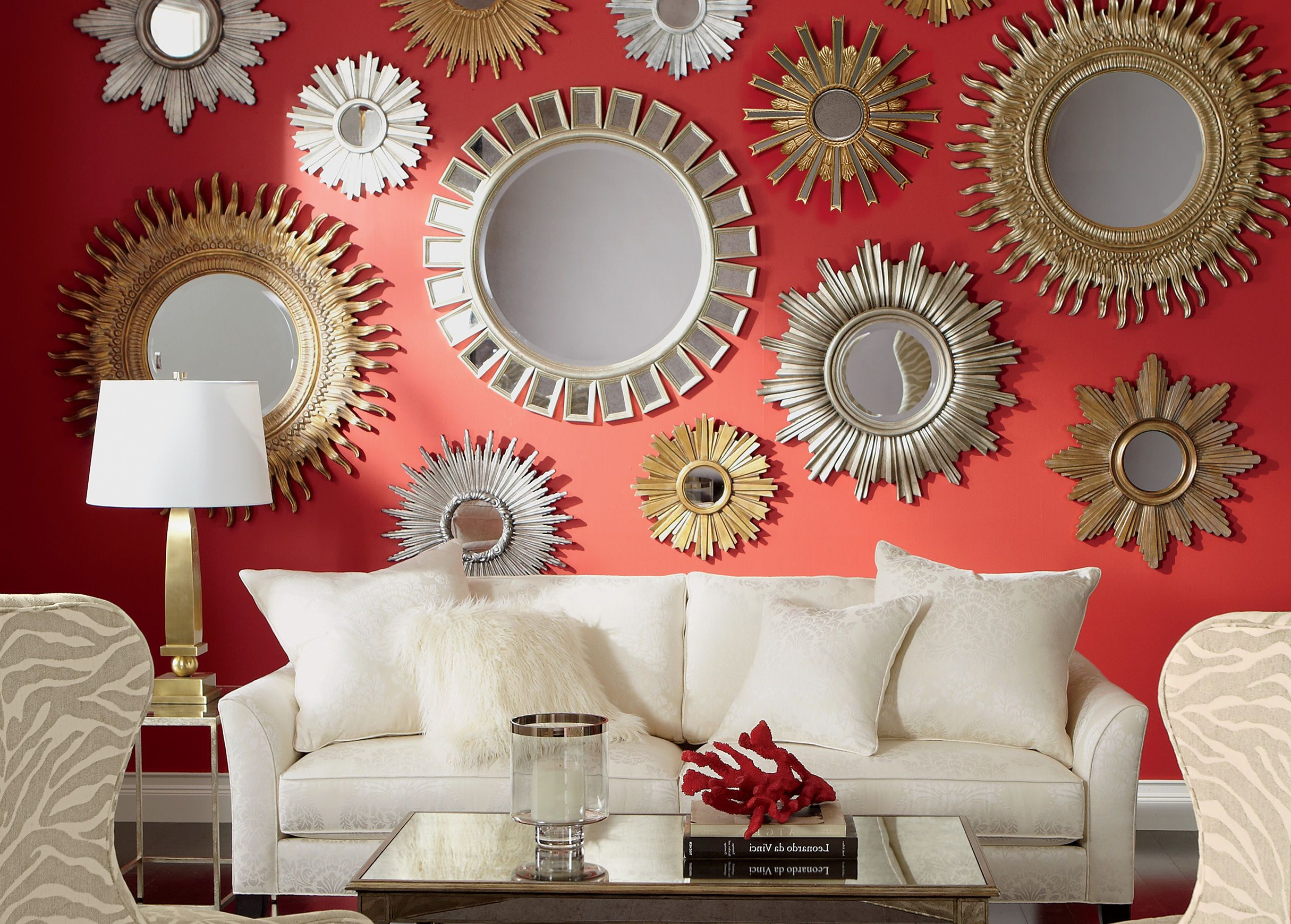Bedroom Glam In 2019 Inside Red Wall Mirrors (View 3 of 20)
