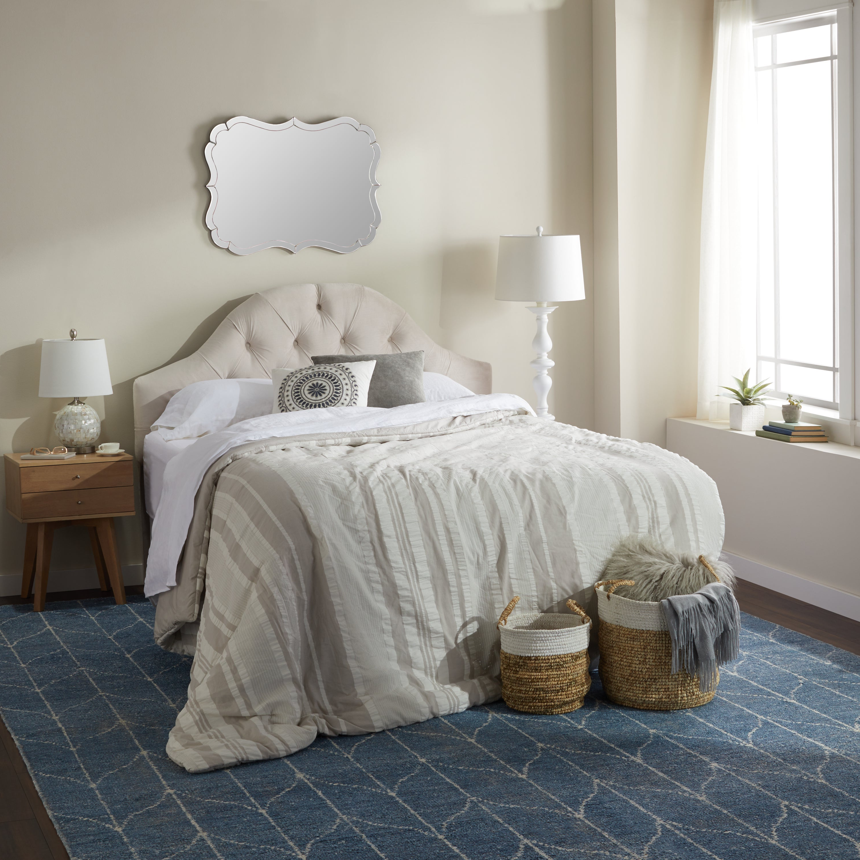 Bedroom Wall Mirrors With Favorite Abbyson Olivia Rectangle Wall Mirror – Silver (View 6 of 20)