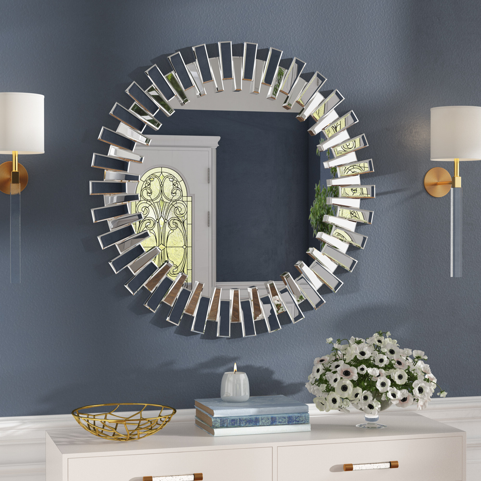 Bekey Modern & Contemporary Beveled Accent Mirror Regarding Trendy Modern & Contemporary Beveled Accent Mirrors (View 1 of 20)