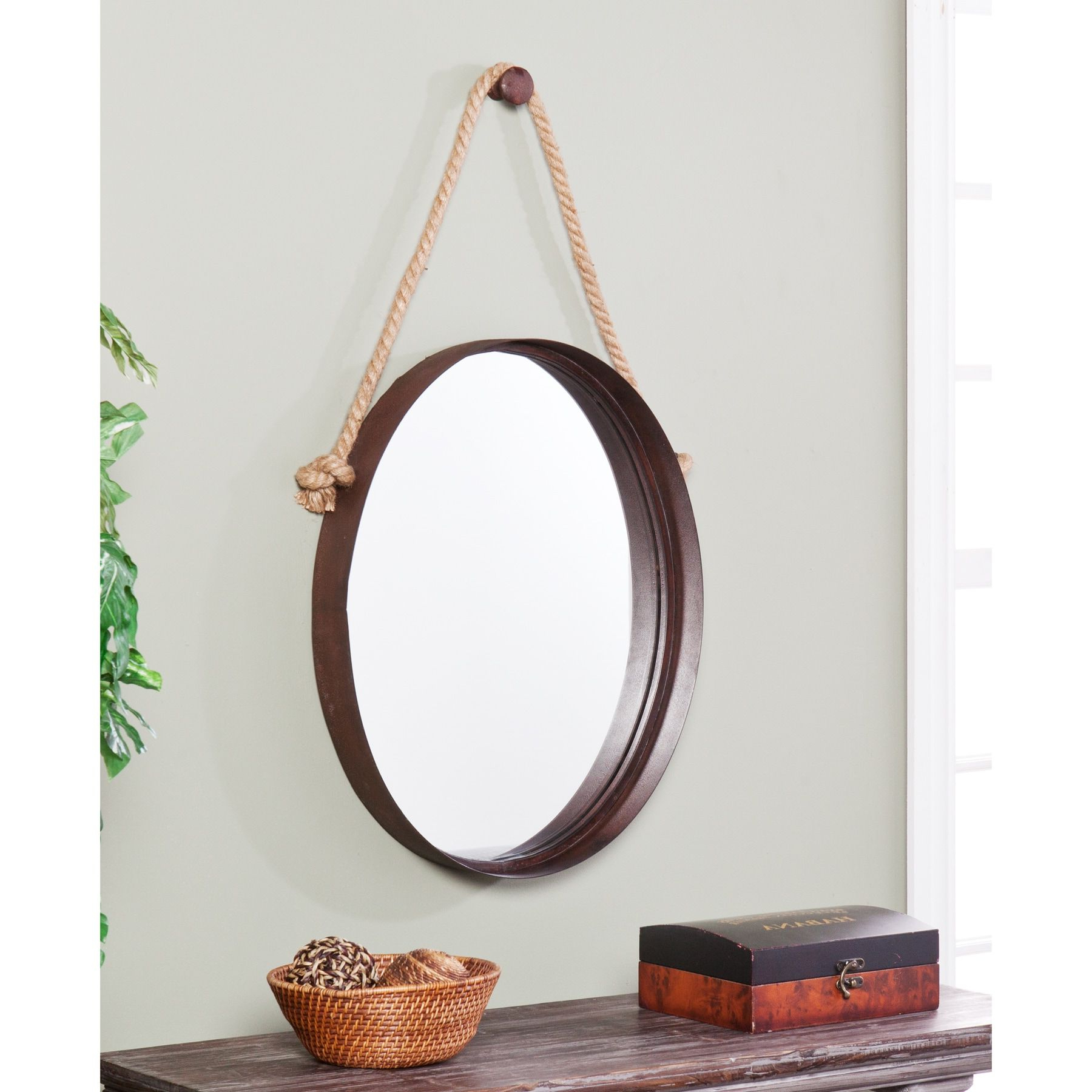 Bem Decorative Wall Mirrors Throughout Best And Newest Carbon Loft Ged Decorative Wall Mirror – Rich Rust In  (View 7 of 20)