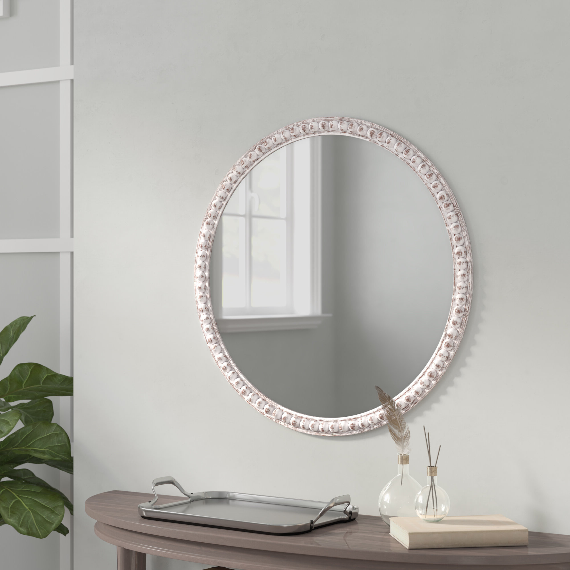 Berton Accent Mirror With Most Current Glen View Beaded Oval Traditional Accent Mirrors (View 2 of 20)
