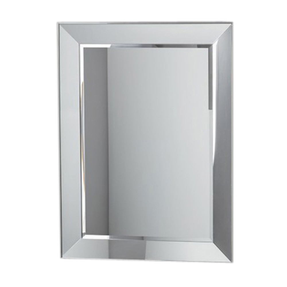Bertoni Rectangle Mirror All Glass Finish With Regard To Famous Glass Wall Mirrors (View 3 of 20)