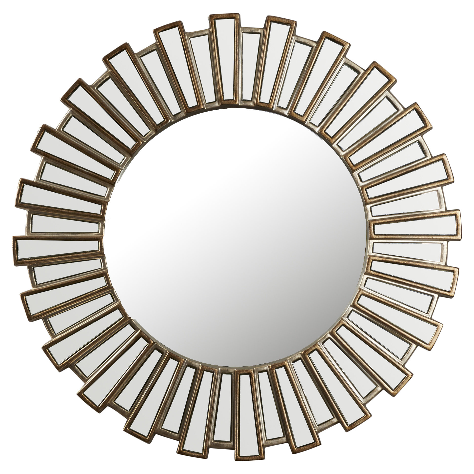 Bertrand Sunburst Resin Accent Wall Mirror Intended For 2019 Harbert Modern And Contemporary Distressed Accent Mirrors (View 7 of 20)