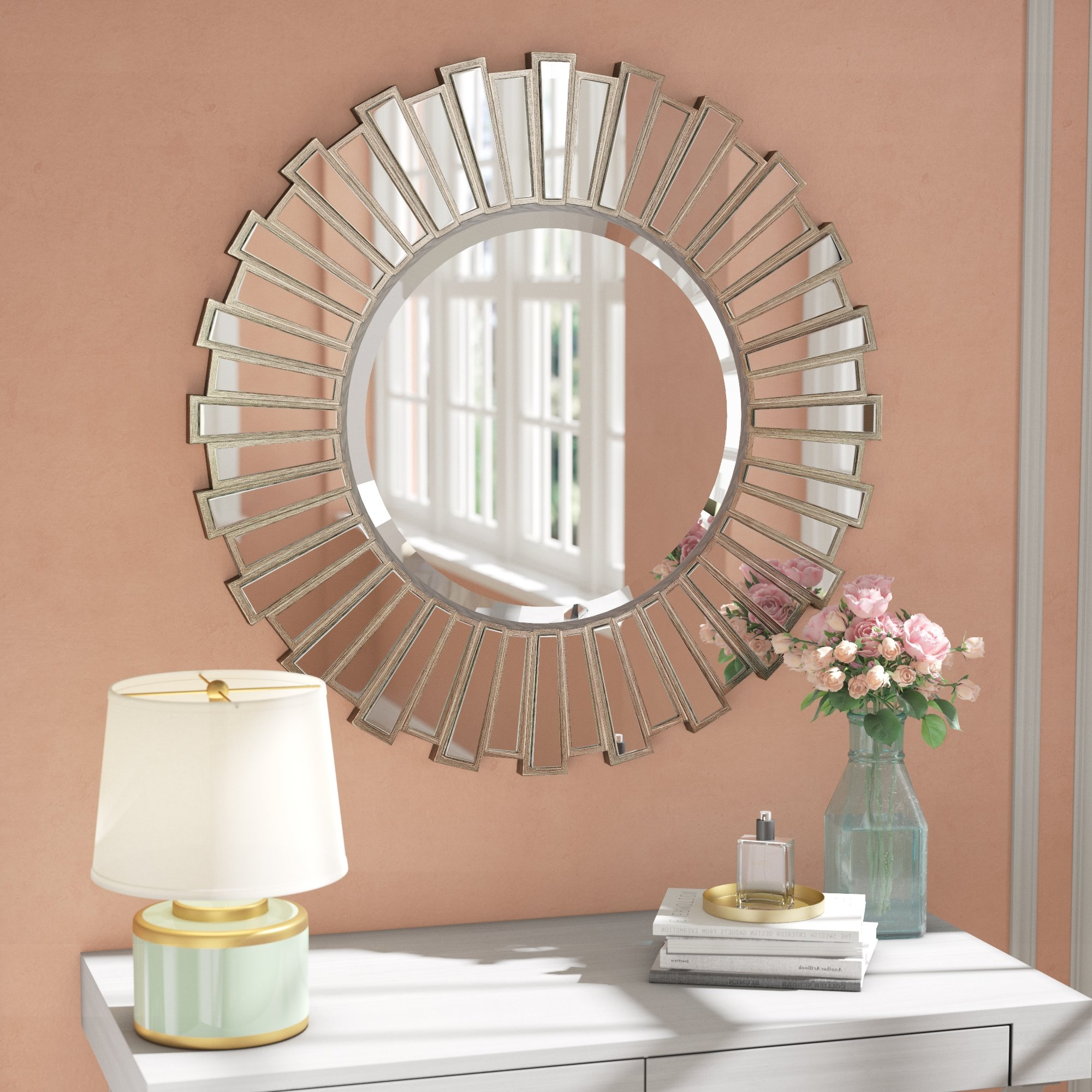 Bertrand Sunburst Resin Accent Wall Mirror Within Most Current Accent Wall Mirrors (View 4 of 20)