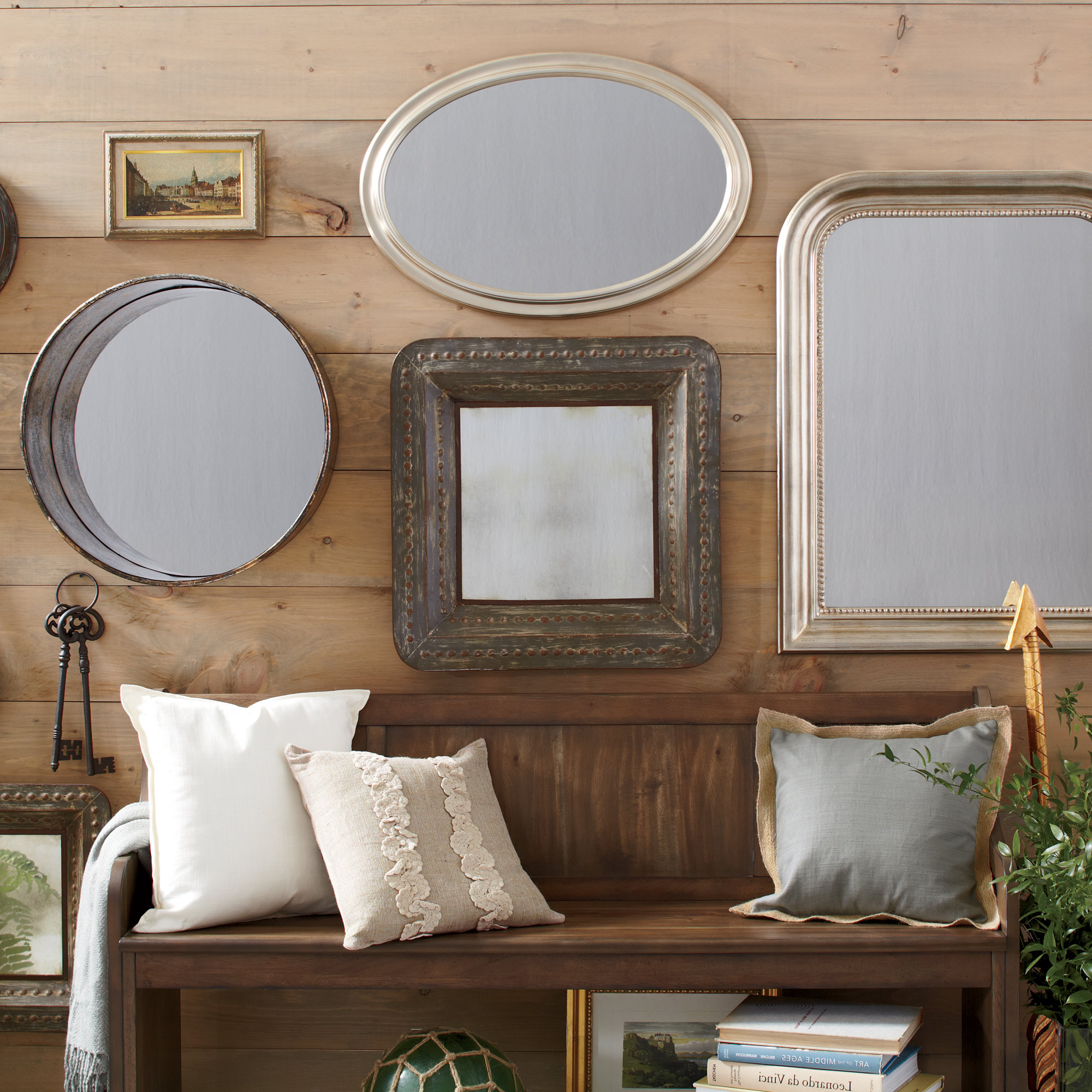 Best And Newest Aldusa 3 Piece Modern & Contemporary Distressed Accent Mirror Set Intended For Dekalb Modern & Contemporary Distressed Accent Mirrors (View 1 of 20)