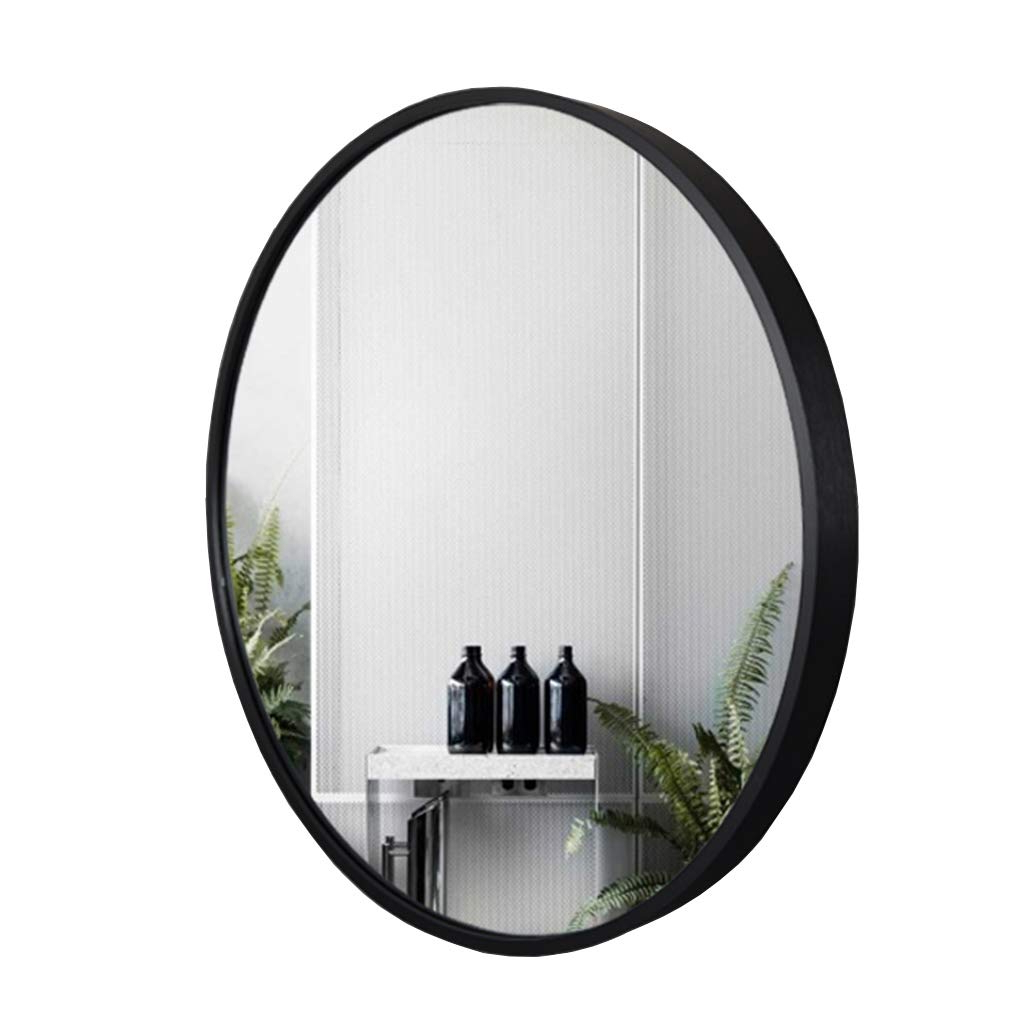 Best And Newest Amazon: Large Round Mirror – Beautiful Black Wall Mirror Regarding Large Black Wall Mirrors (View 2 of 20)