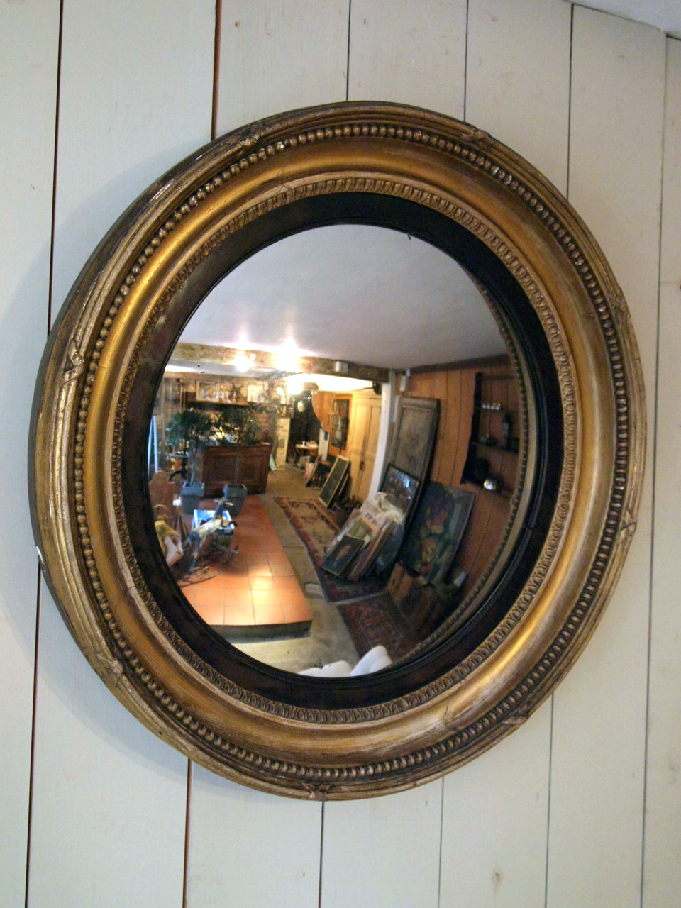 Best And Newest Antique Round Convex Mirror Puckhaber Decorative Antiques Pertaining To Round Convex Wall Mirrors (View 3 of 20)