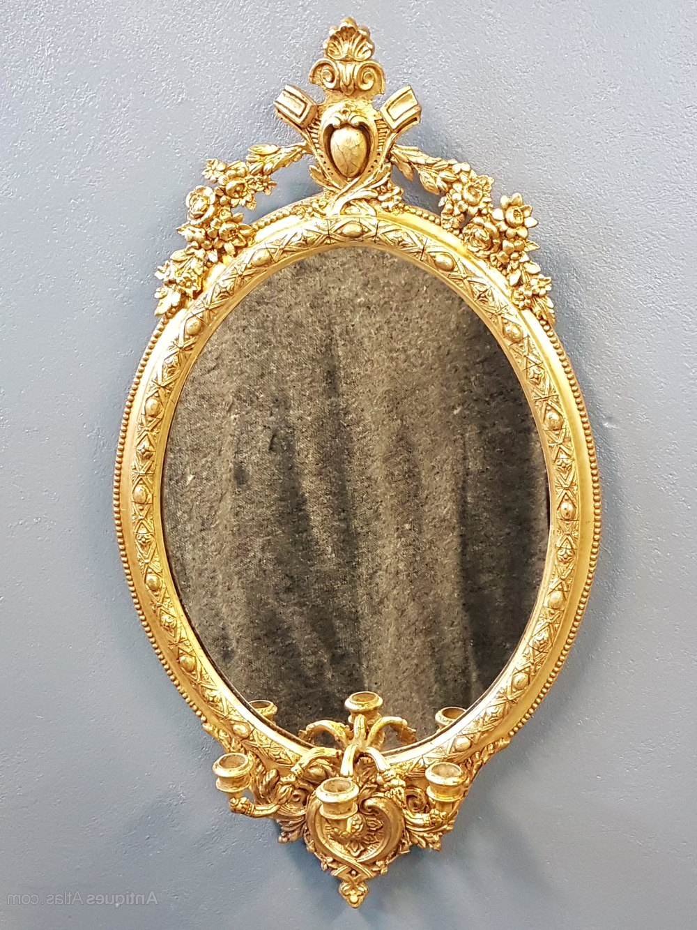Best And Newest Antiques Atlas – Early 19Th Century Gilt Oval Mirror Regarding Triple Oval Wall Mirrors (View 4 of 20)