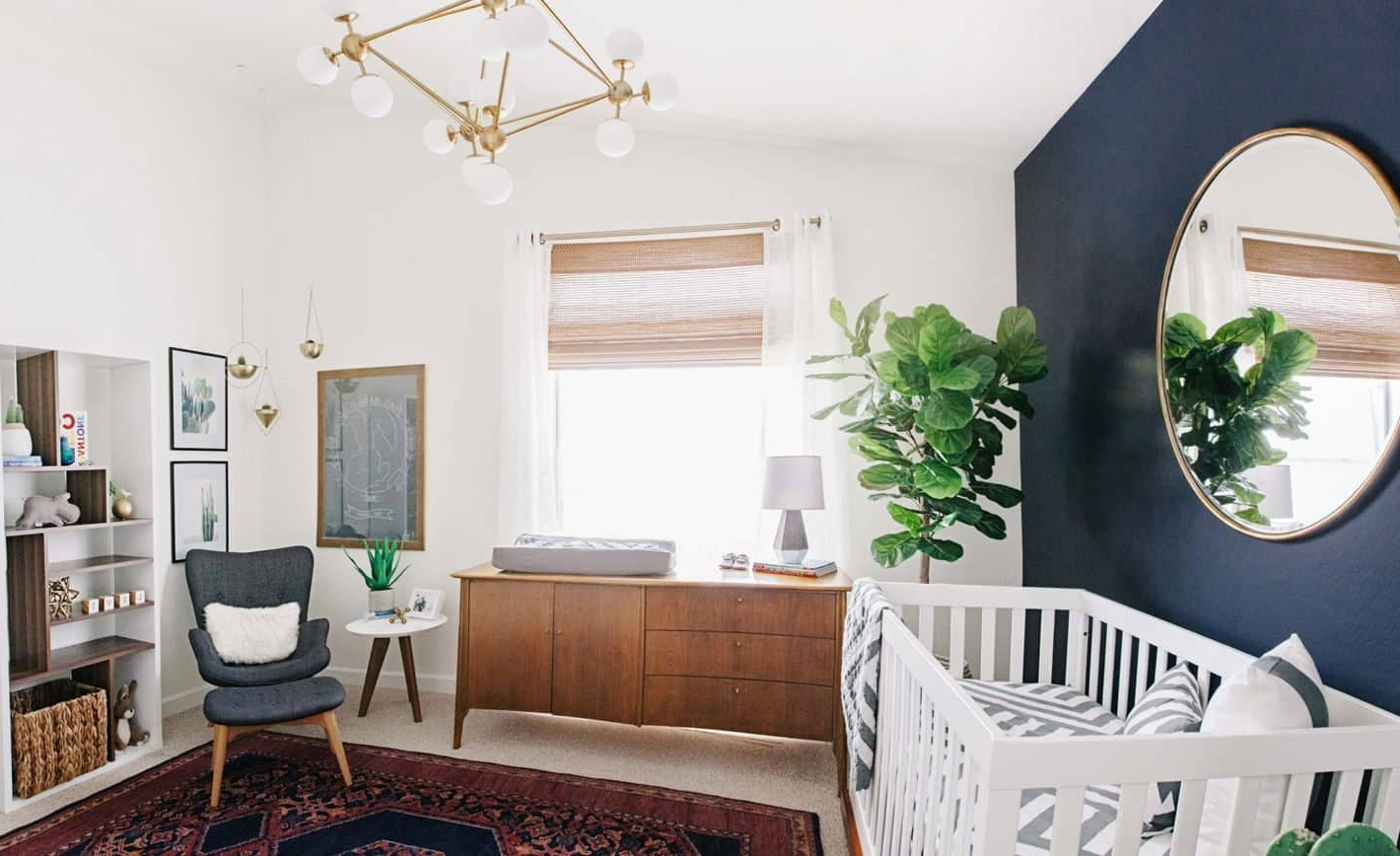 Best And Newest Baby Nursery Decorated With Wall Mirror And Houseplant – Cute With Cute Wall Mirrors (View 13 of 20)