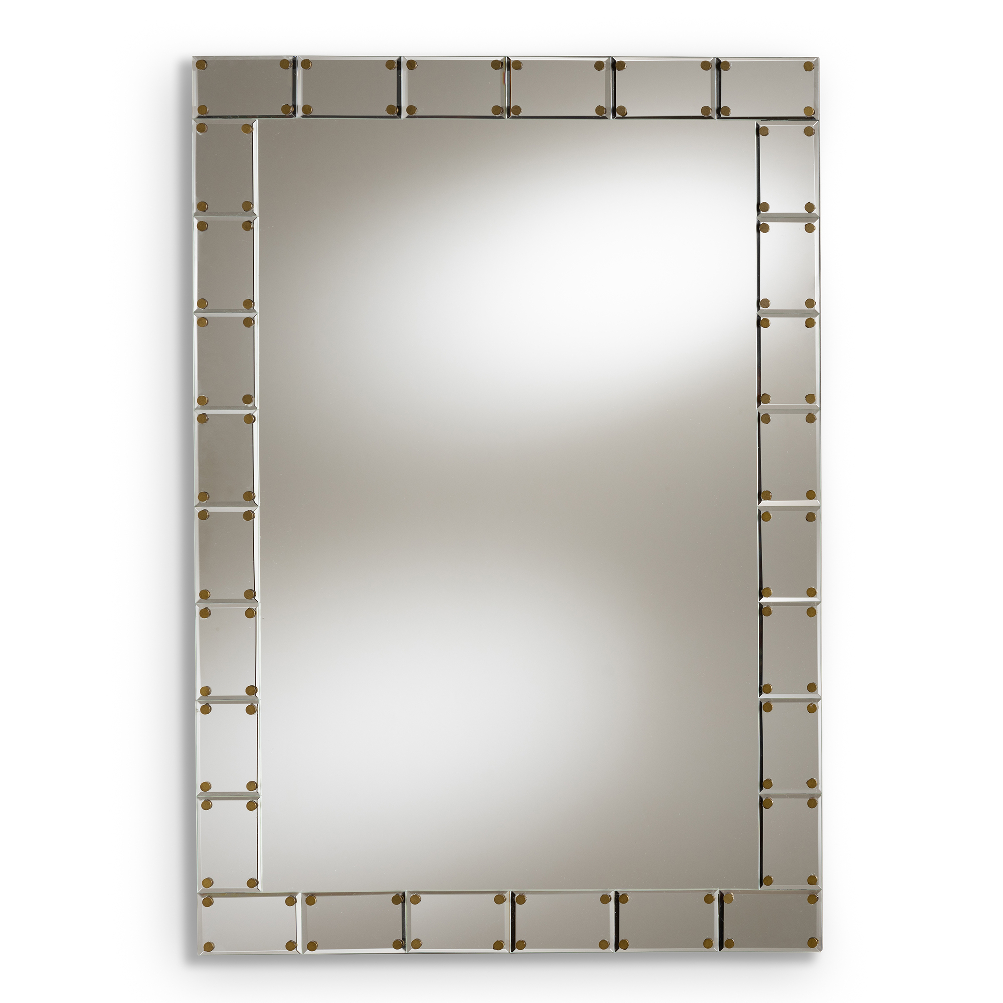 Best And Newest Baxton Studio Almeria Modern And Contemporary Silver Finished Inside Rectangle Accent Wall Mirrors (View 16 of 20)