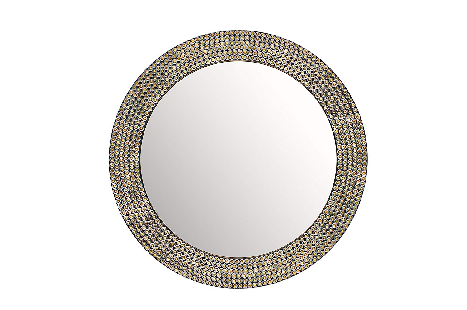 Best And Newest Buy Hosley Decorative Gold Metal Studded Wall Mirror Online Regarding Studded Wall Mirrors (View 7 of 20)