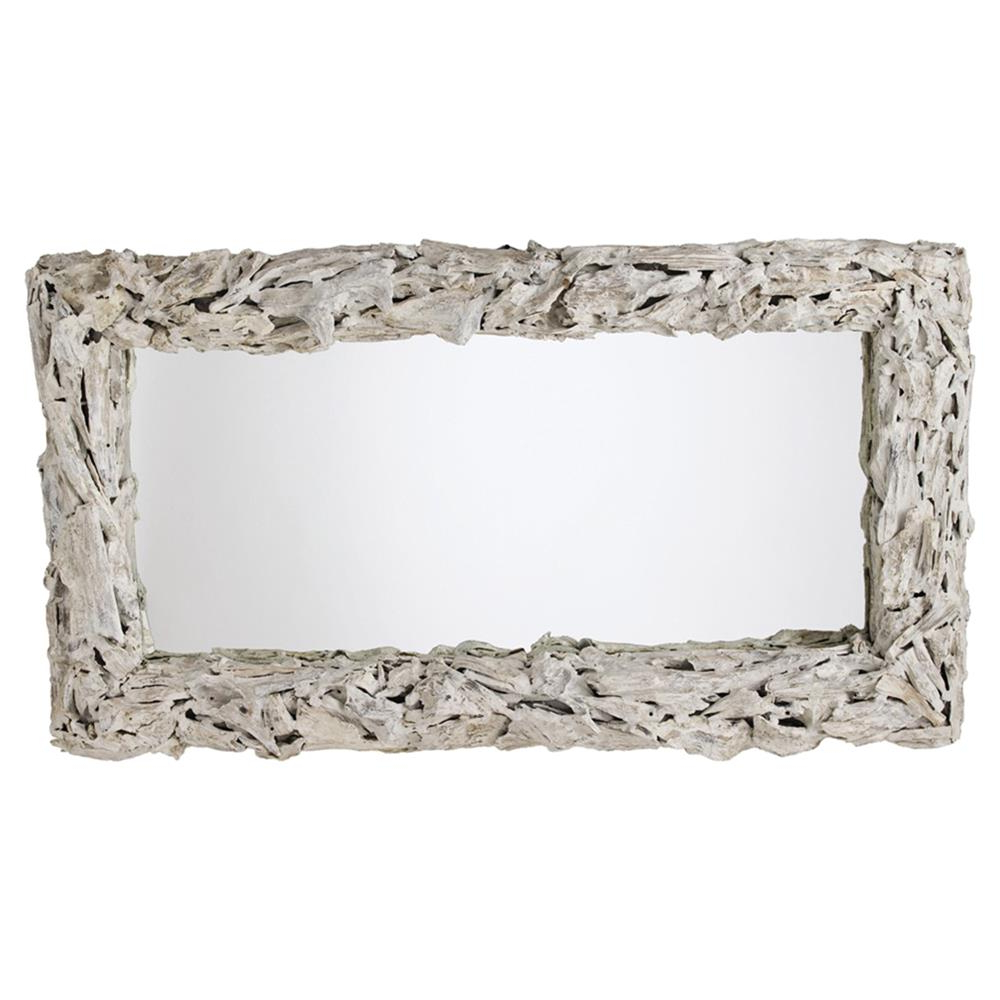 Best And Newest Coastal Wall Mirrors Throughout Arteriors Bodega Coastal Beach White Wash Driftwood Mirror (View 2 of 20)