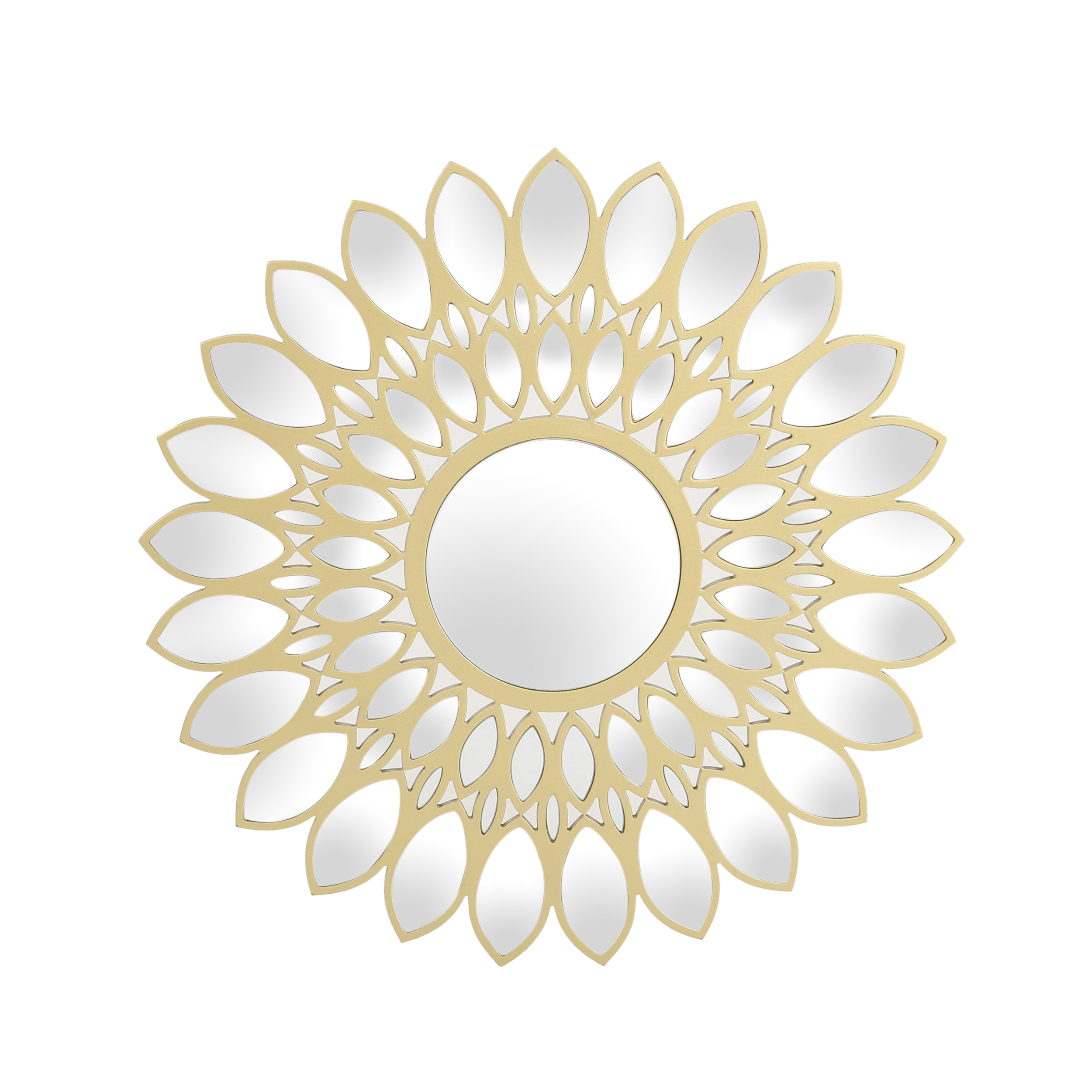 Best And Newest Danae Glam Flower Wall Mirror, Gold Finish Inside Flower Wall Mirrors (View 5 of 20)