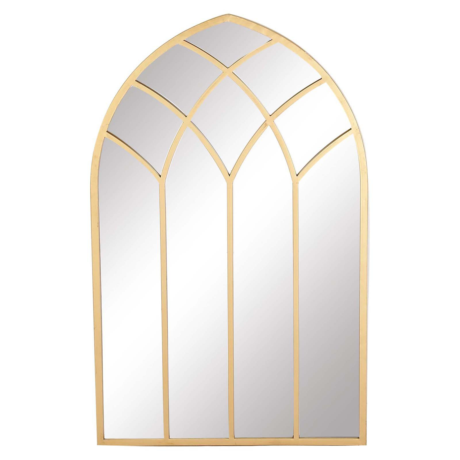 Best And Newest Decmode Iron Framed Arched Window Wall Mirror – 30w X 48h In Regarding Yatendra Cottage/country Beveled Accent Mirrors (View 19 of 20)