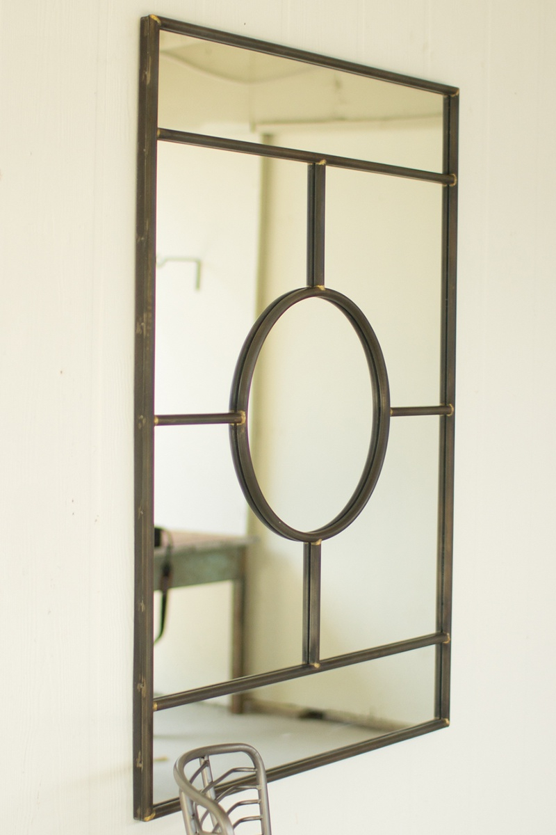 Best And Newest Deco Wall Mirrors Within Iron Deco Wall Mirror (View 7 of 20)