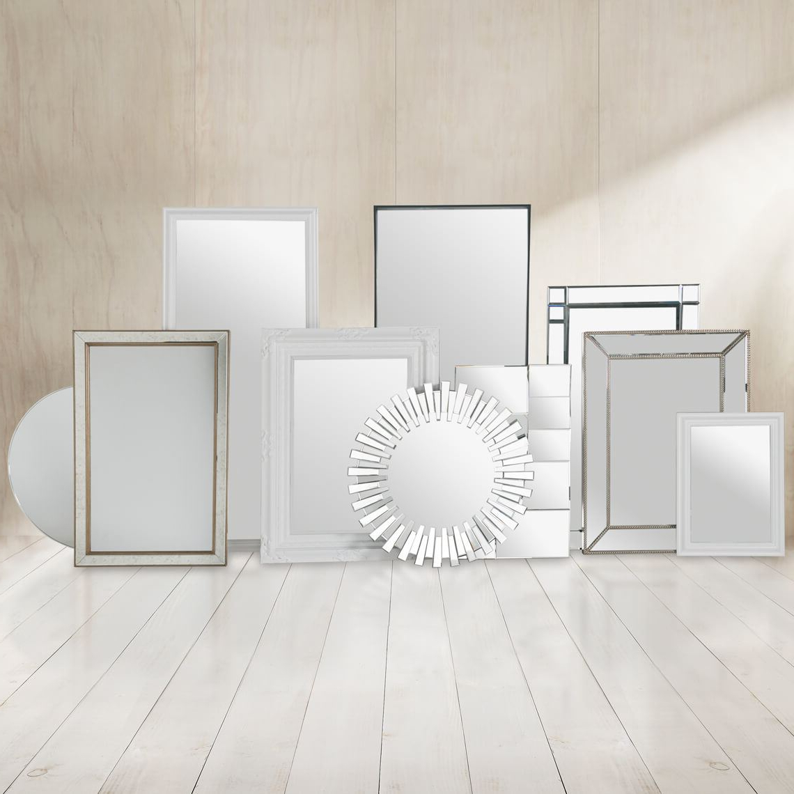 Best And Newest Dylan Mirror 120Cm, White Intended For Marion Wall Mirrors (View 4 of 20)