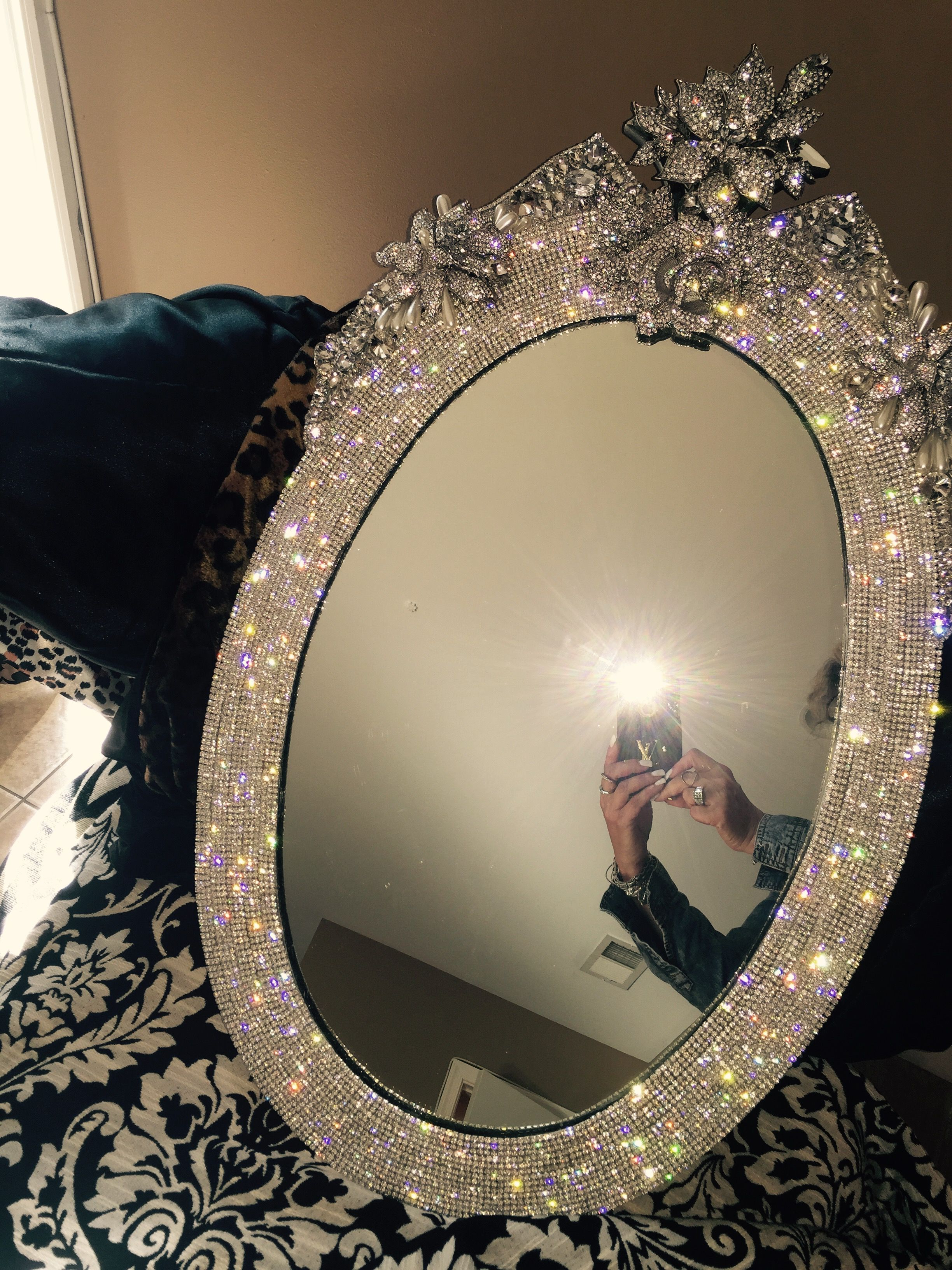 Best And Newest Expensive Wall Mirrors Within Rhinestone Encrusted Wall Mirror Decorating Details Expensive (View 8 of 20)