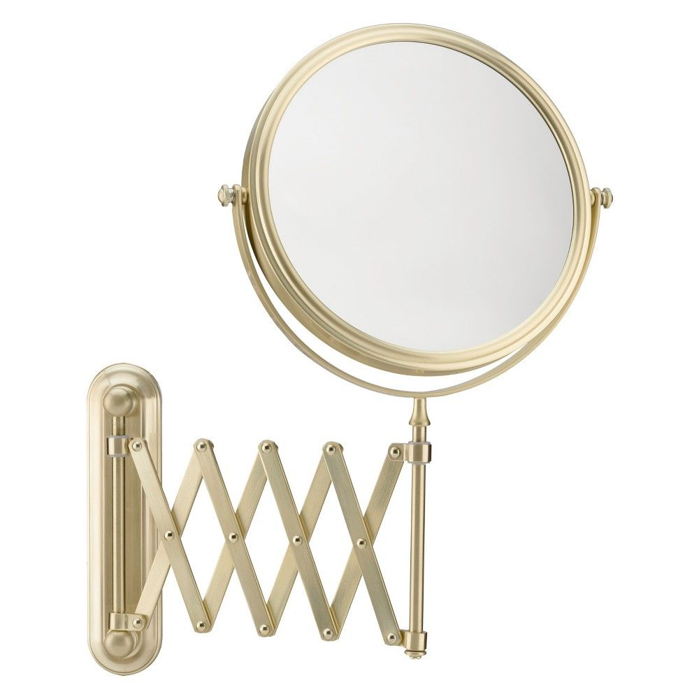 """Best And Newest Extension Arm Wall Mirrors Pertaining To Mirror Image 5""""x1"""" Arm Wall Extension Decorative Wall Mirror Brushed (View 5 of 20)"""