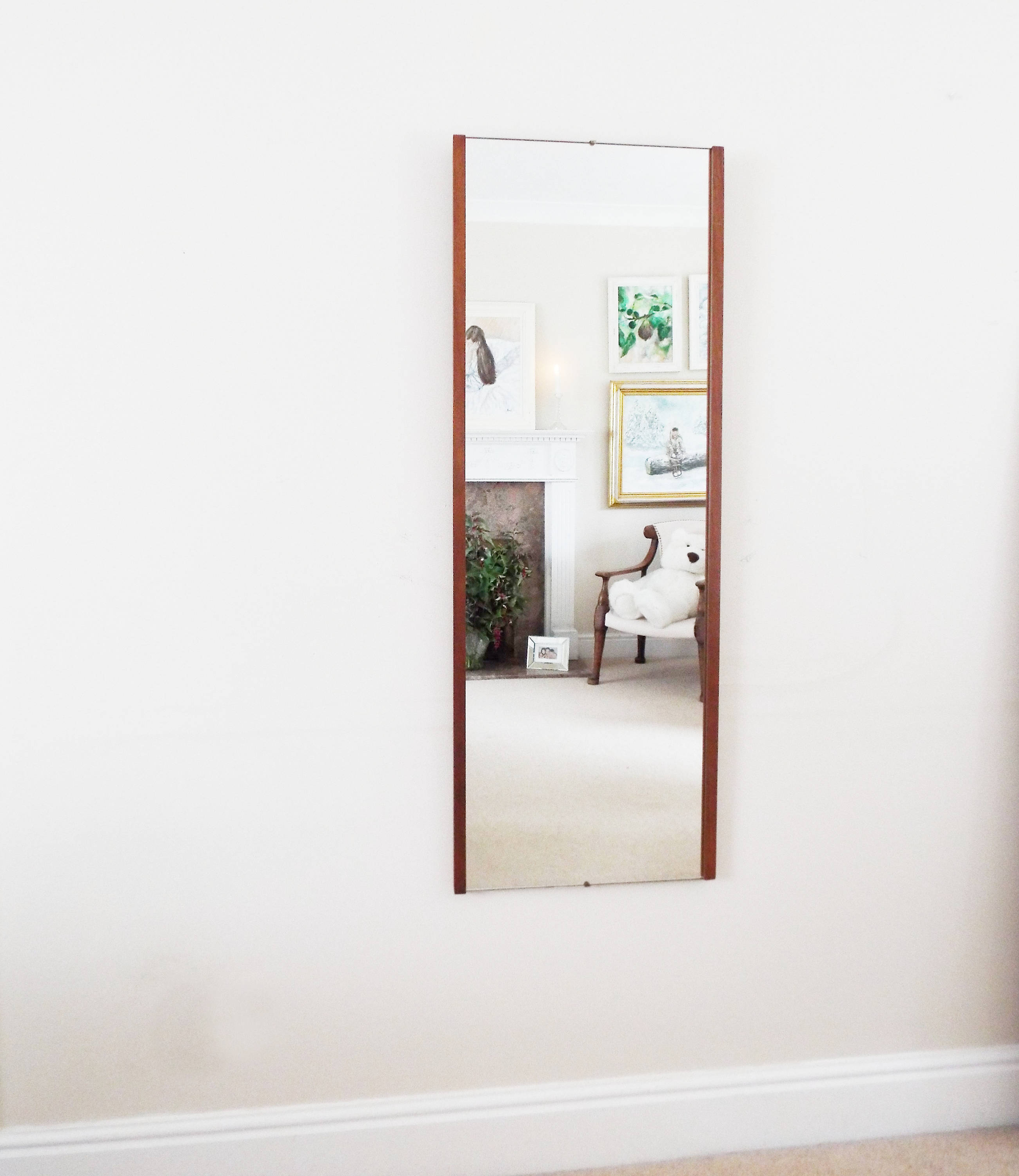 Best And Newest Extra Large Danish Teak Mirror Mid Century Modernist Wall Mirror Retro Mirror Vintage Intended For Retro Wall Mirrors (View 5 of 20)