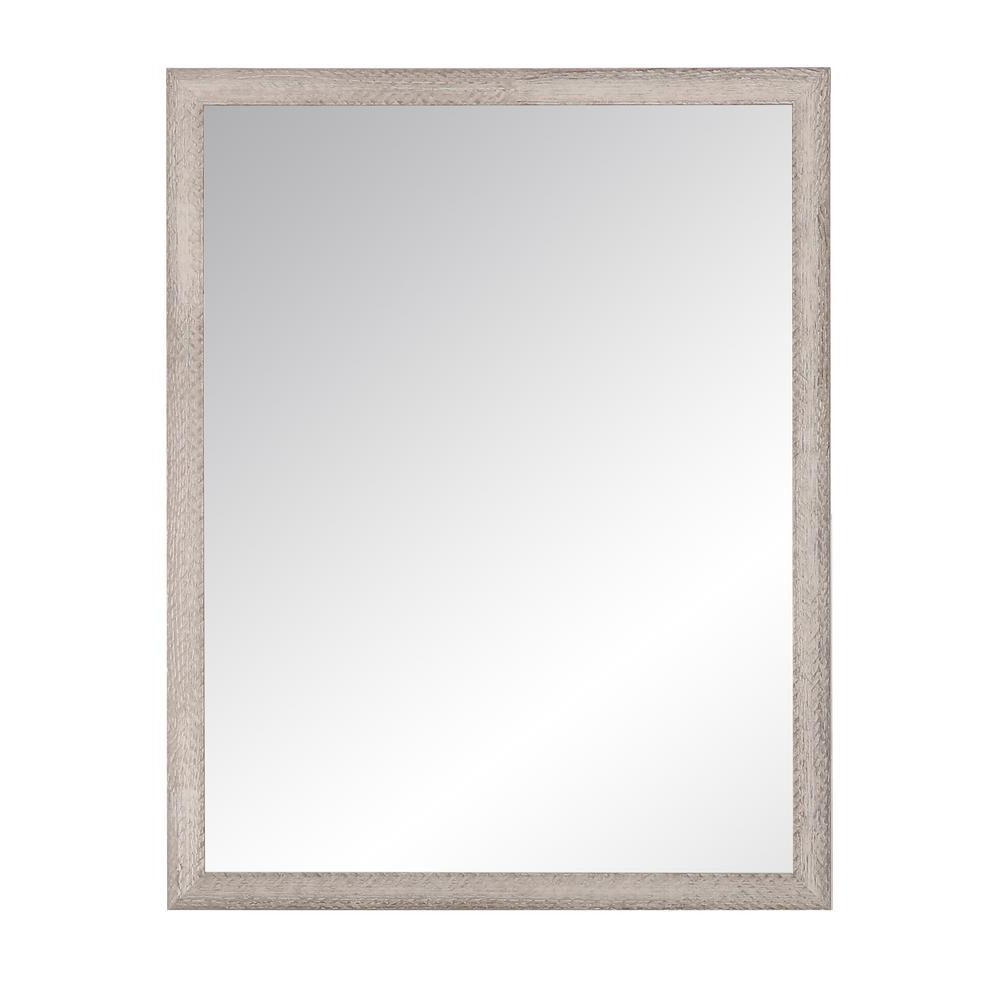 Best And Newest Farmhouse Woodgrain And Leaf Accent Wall Mirrors In Brandtworks Charcoal Farmhouse Gray Wall Mirror Bm075l2 – The Home Depot (View 5 of 20)