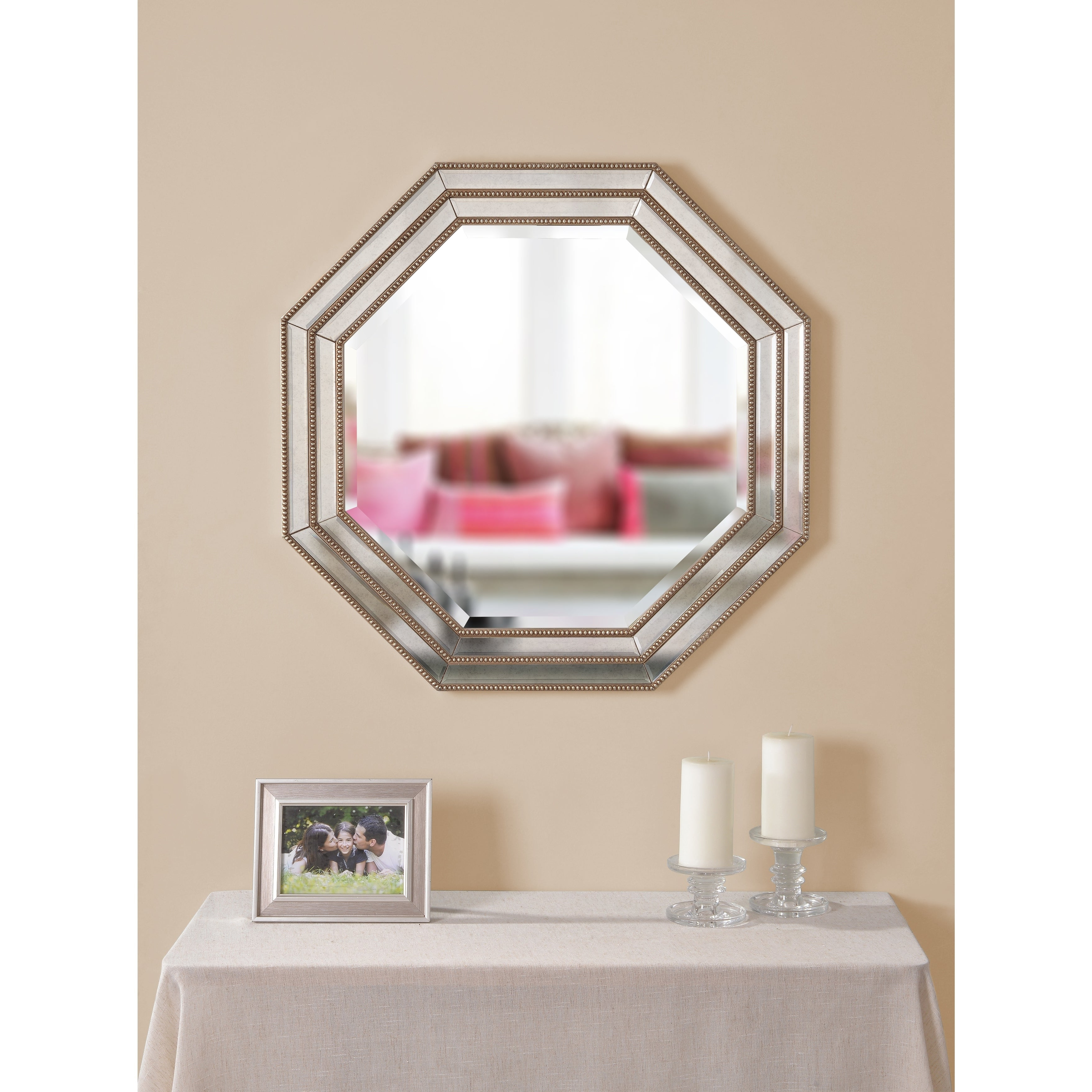 """Best And Newest Finn 30"""" Octagon Champagne Wall Mirror Inside Champagne Wall Mirrors (View 13 of 20)"""