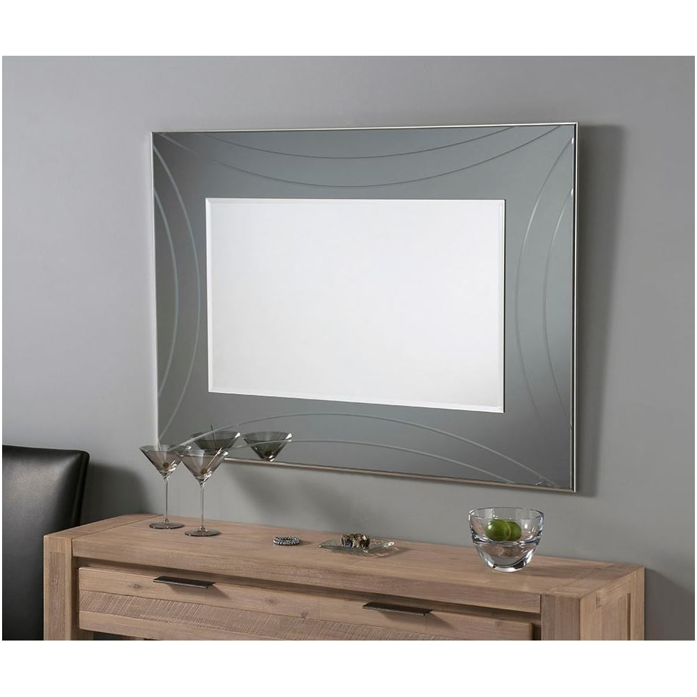 Best And Newest Grey Wall Mirrors With Contemporary Grey Rectangular Wall Mirror (View 8 of 20)