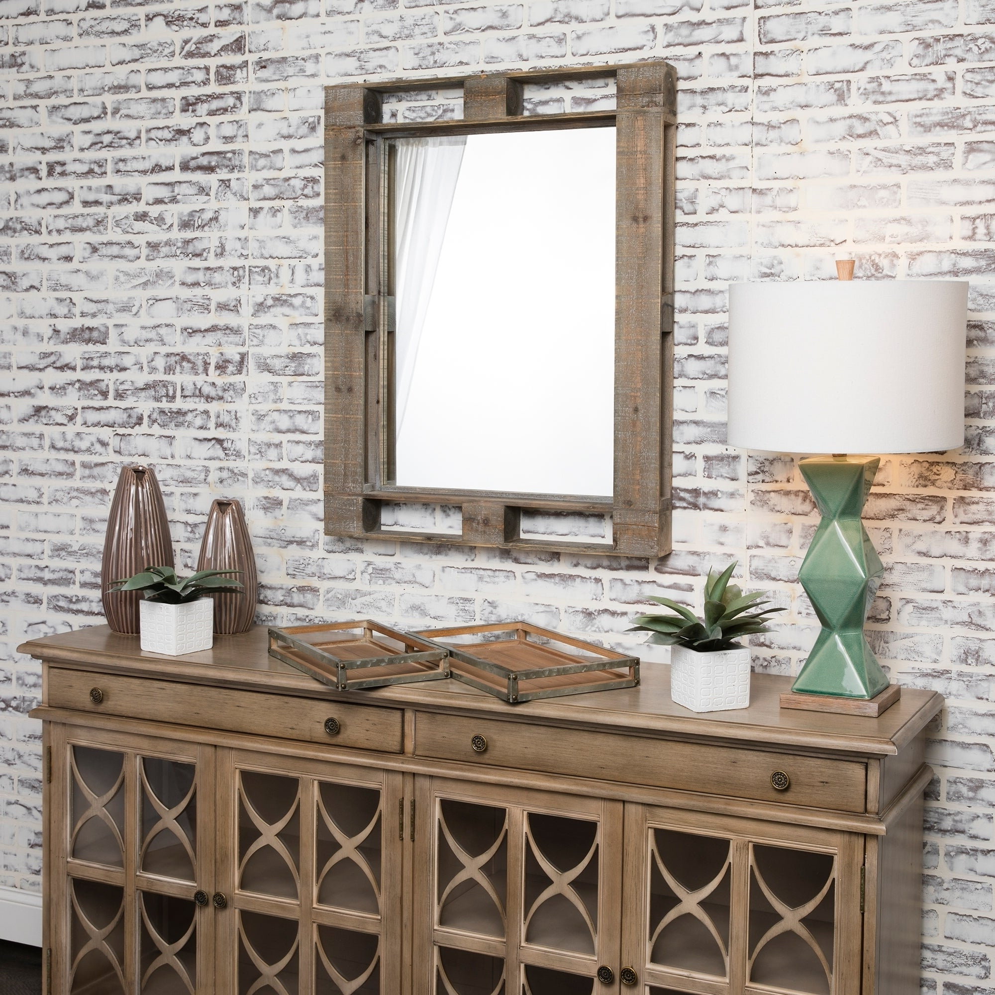Best And Newest Horizontal Wall Mirrors Within Pallet Mirror Natural Wood Horizontal And Vertical Wall Mirror – A/n (View 2 of 20)