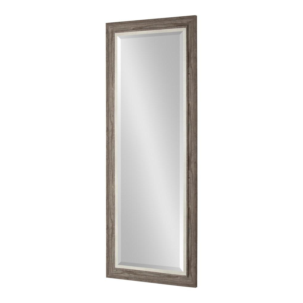 Best And Newest Kate And Laurel Woodway Rectangle Gray Plastic Wall Mirror 215344 Pertaining To Plastic Wall Mirrors (View 1 of 20)