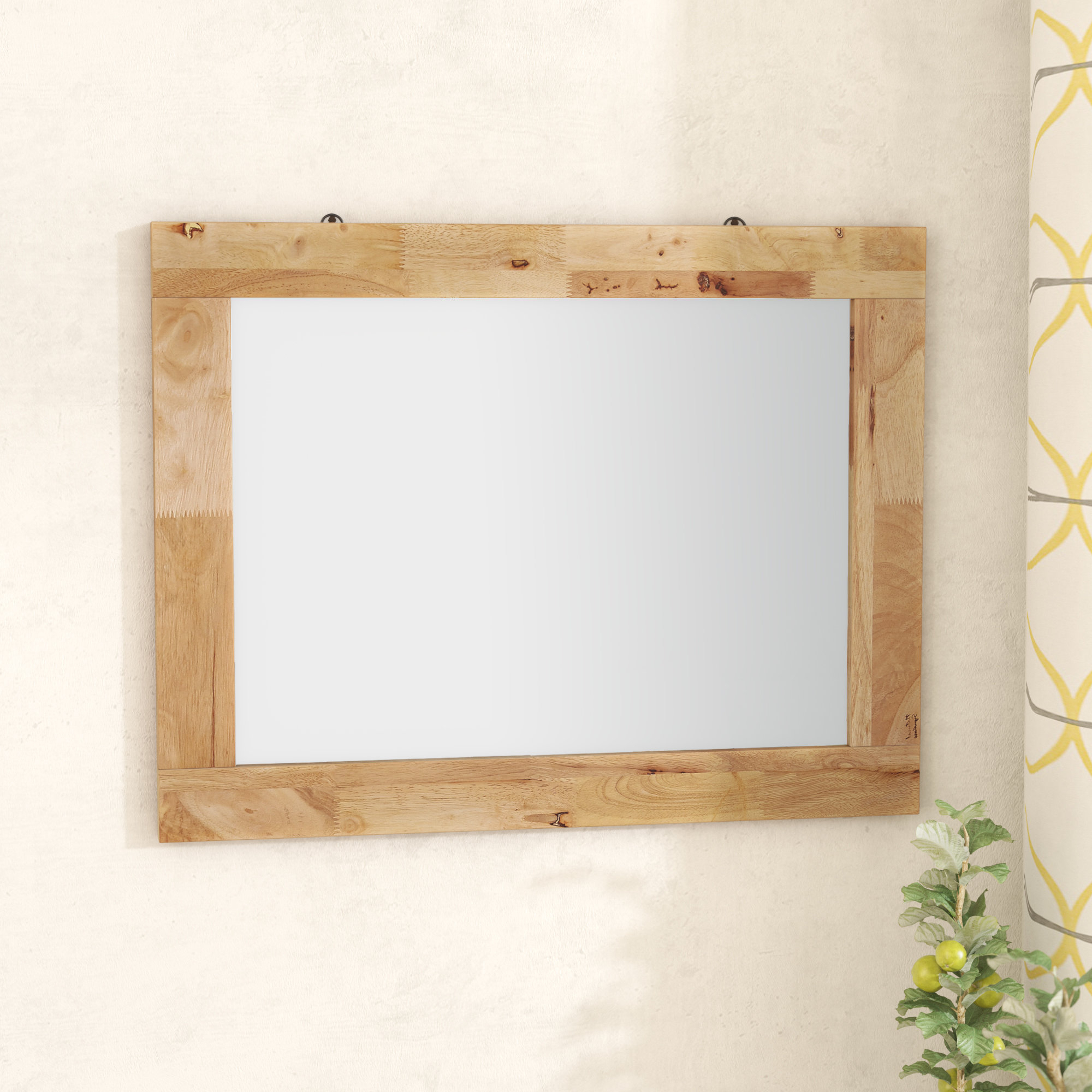 Best And Newest Longwood Rustic Beveled Accent Mirrors Within Barney Rustic Accent Wall Mirror (View 8 of 20)