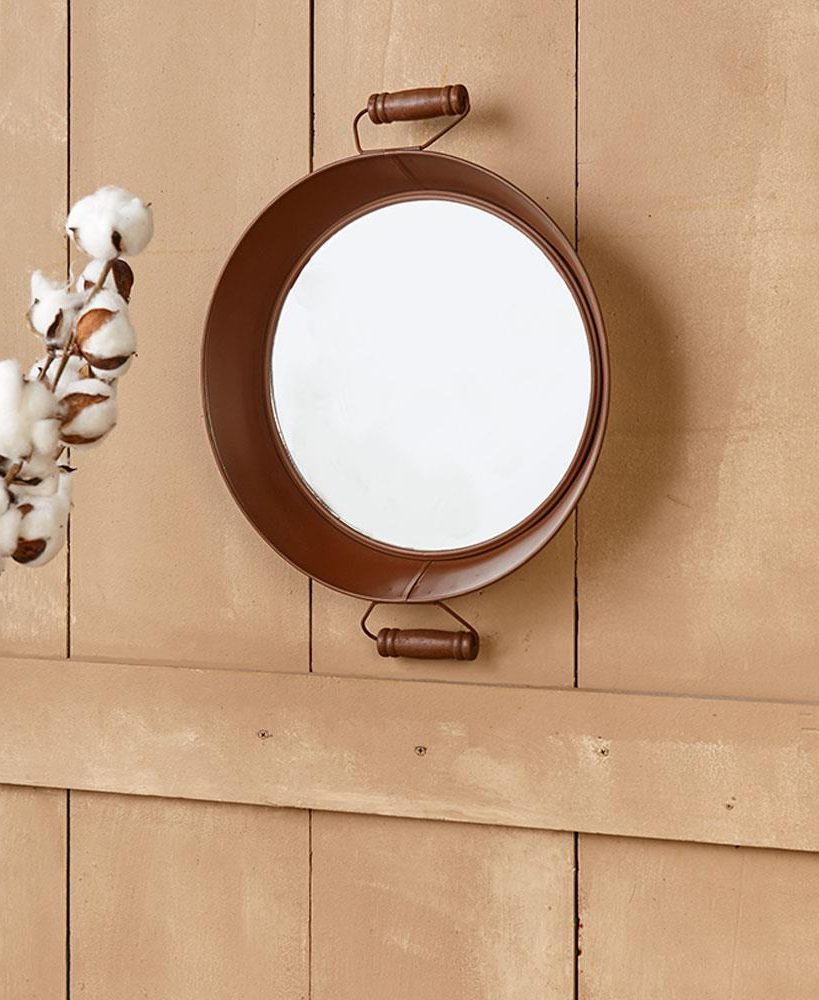 Best And Newest Old Fashioned Wall Mirrors Intended For Details About Country Farmhouse Rustic Brown Metal Old Fashioned Wash Basin Tub Wall Mirror (View 14 of 20)