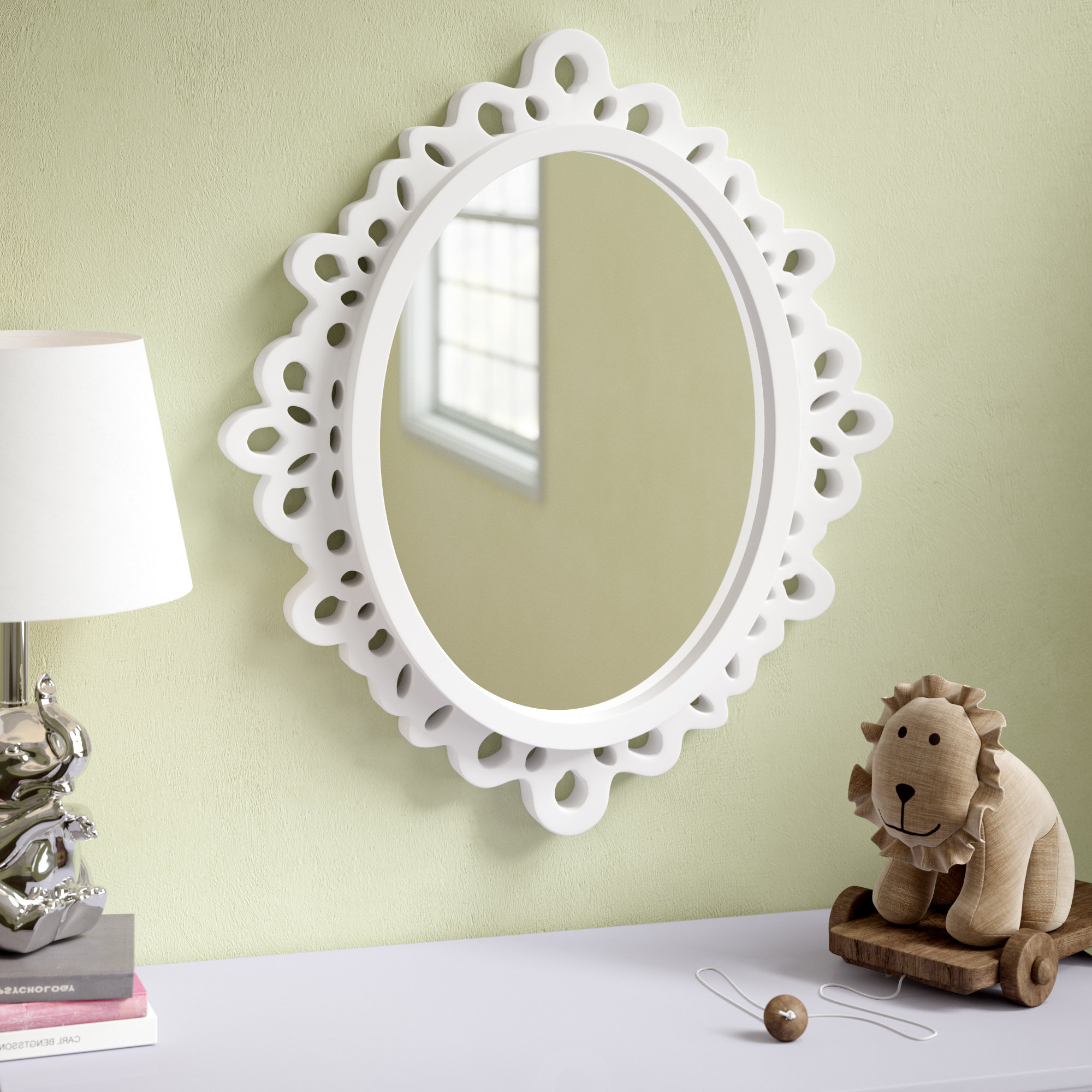 Best And Newest Oval Wood Lace Wall Mirror Throughout Gingerich Resin Modern & Contemporary Accent Mirrors (View 5 of 20)